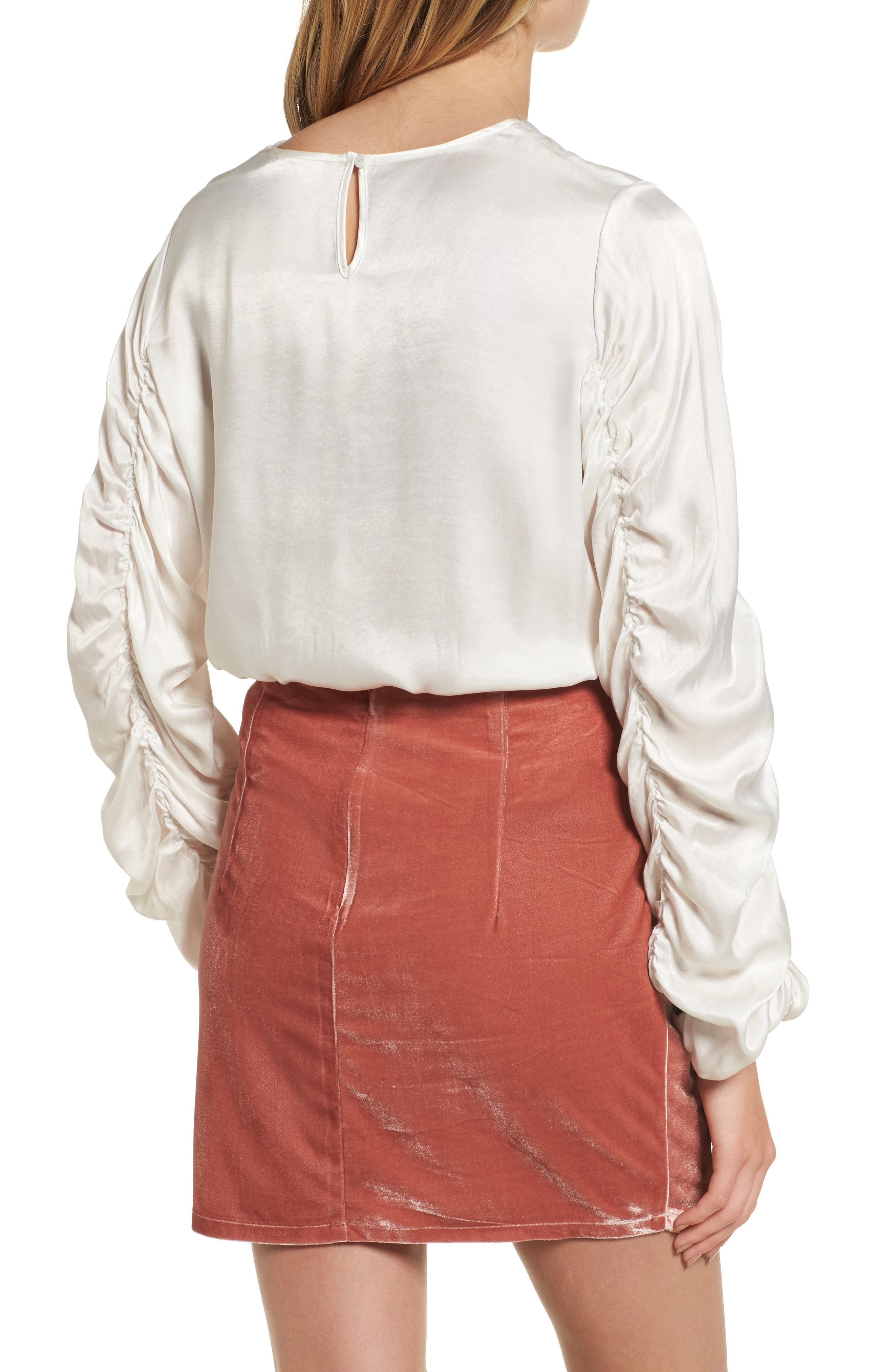 Lexi Ruched Sleeve Top,                             Alternate thumbnail 2, color,                             900