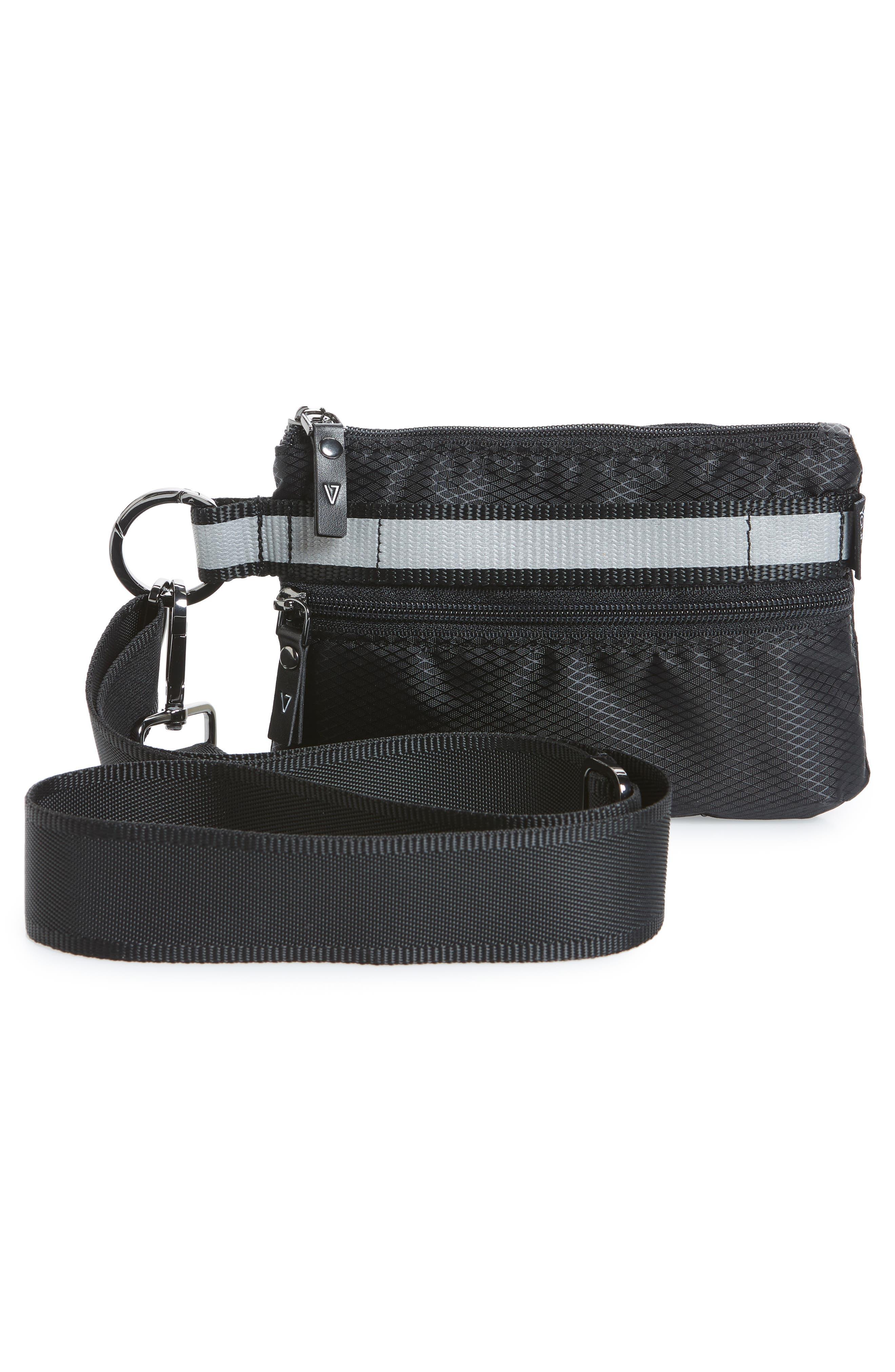 Urban Clutch Convertible Belt Bag,                             Alternate thumbnail 4, color,                             BLACK/ REFLECTIVE STRIPE