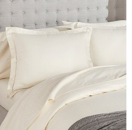Boll & Branch sheets and pillows.