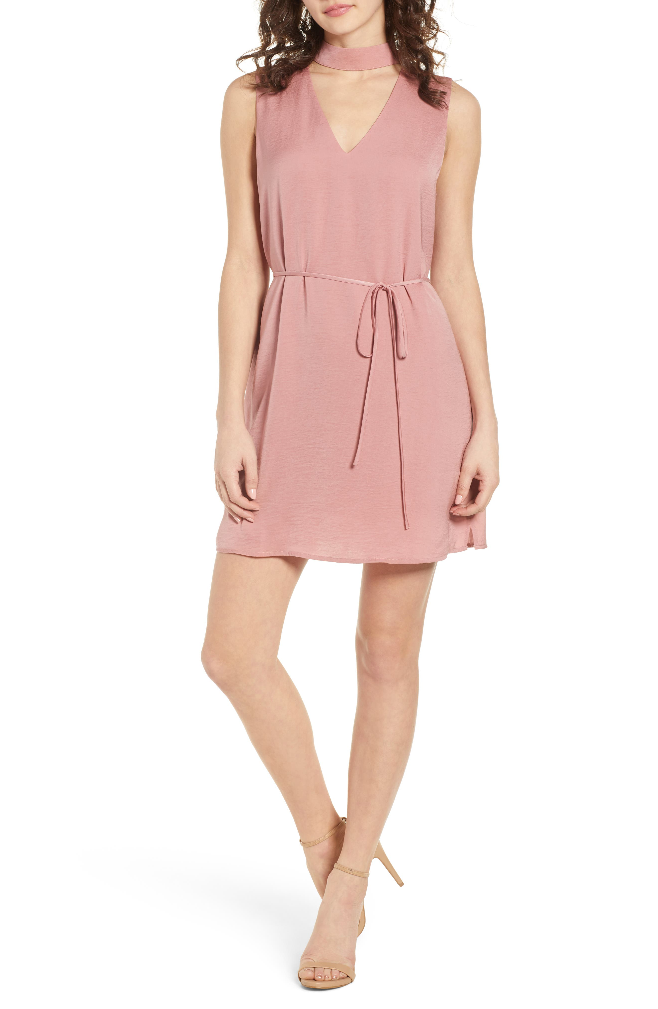 Hansel Sleeveless Dress,                         Main,                         color, FADED ROSE