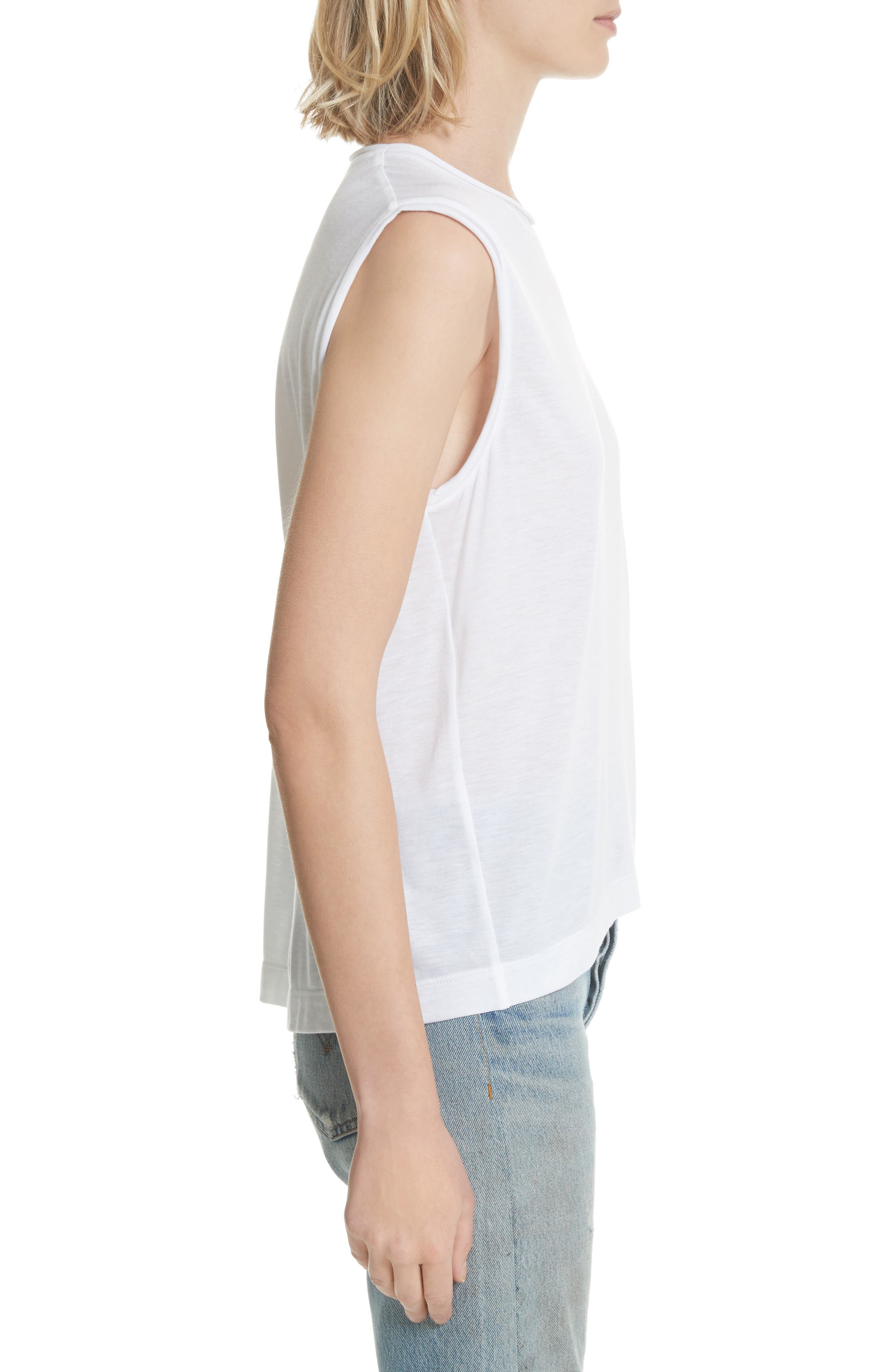 Perfect Muscle Tee,                             Alternate thumbnail 3, color,                             100