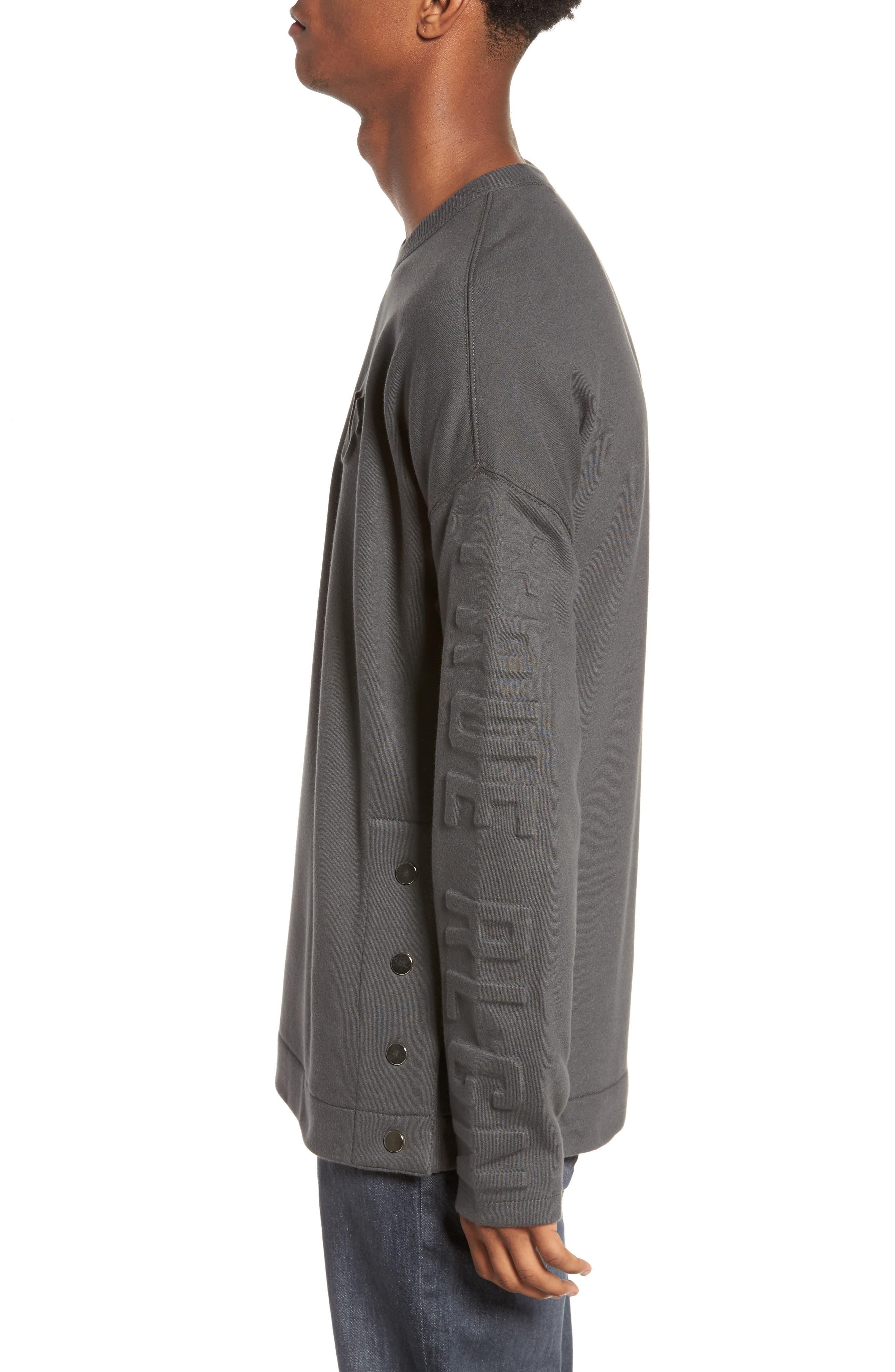 Oversize Fleece Sweatshirt,                             Alternate thumbnail 3, color,                             020