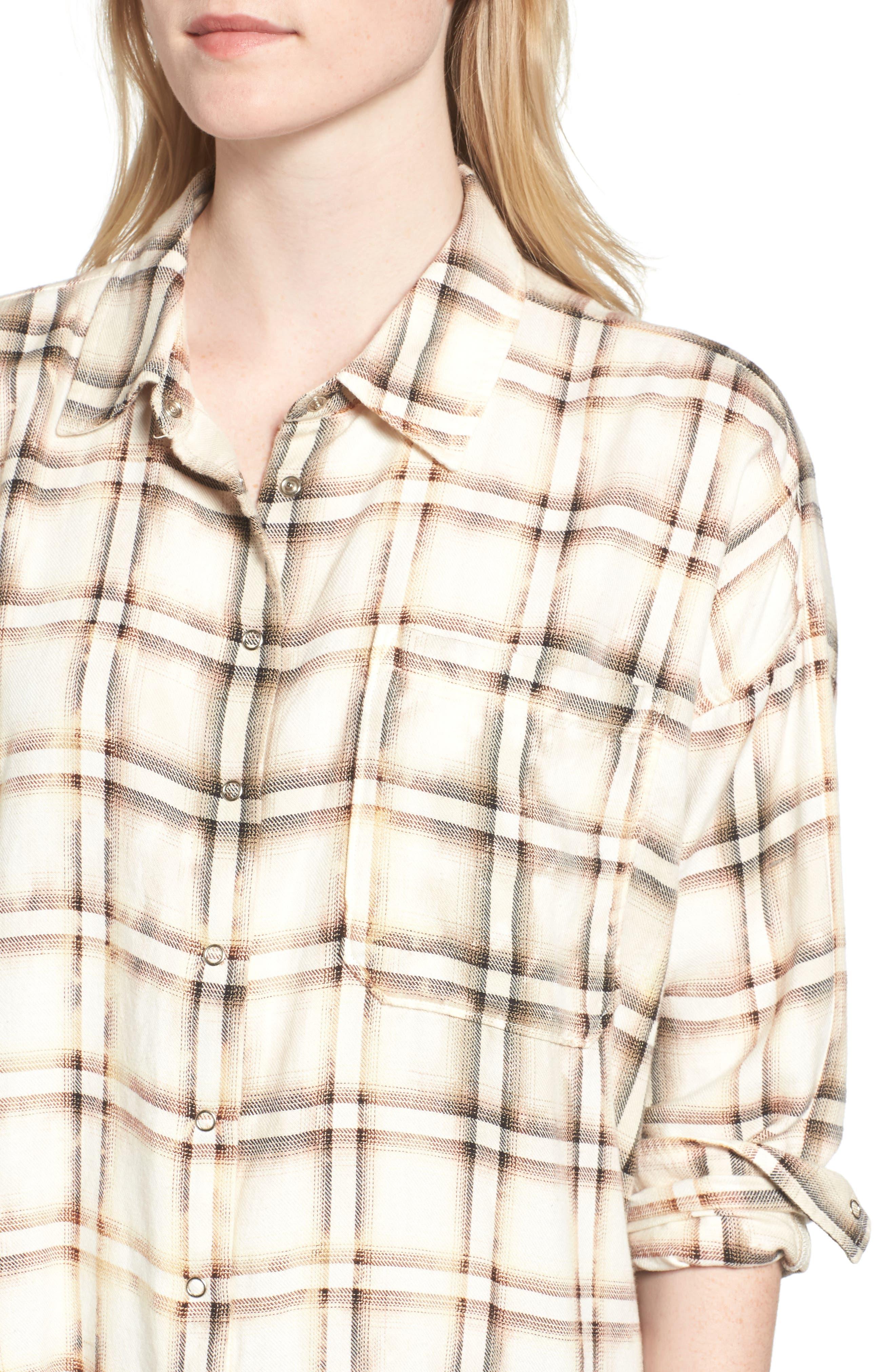 Josie Flannel Shirt,                             Alternate thumbnail 4, color,                             909