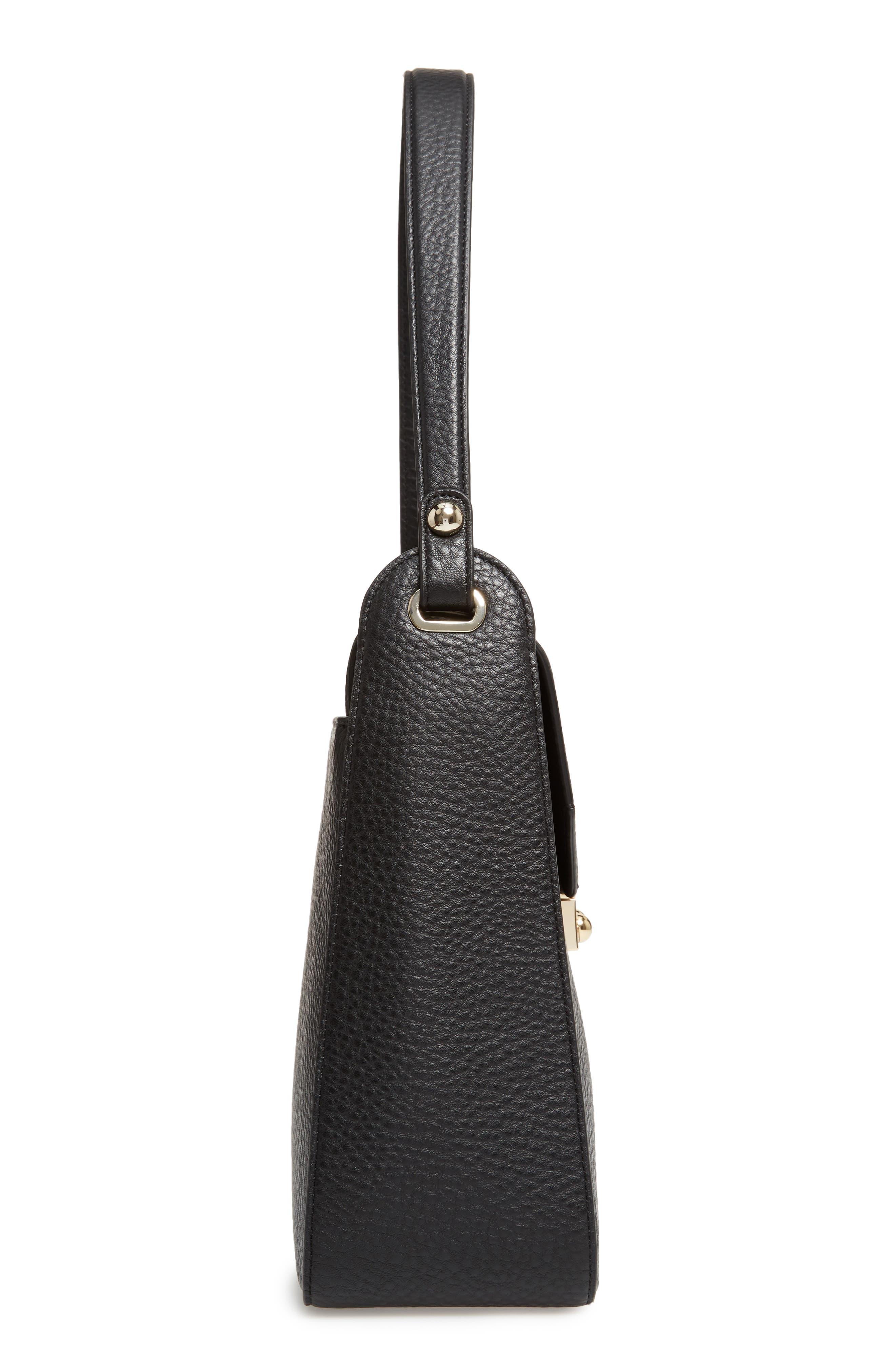 stewart street lynea leather satchel,                             Alternate thumbnail 5, color,                             001