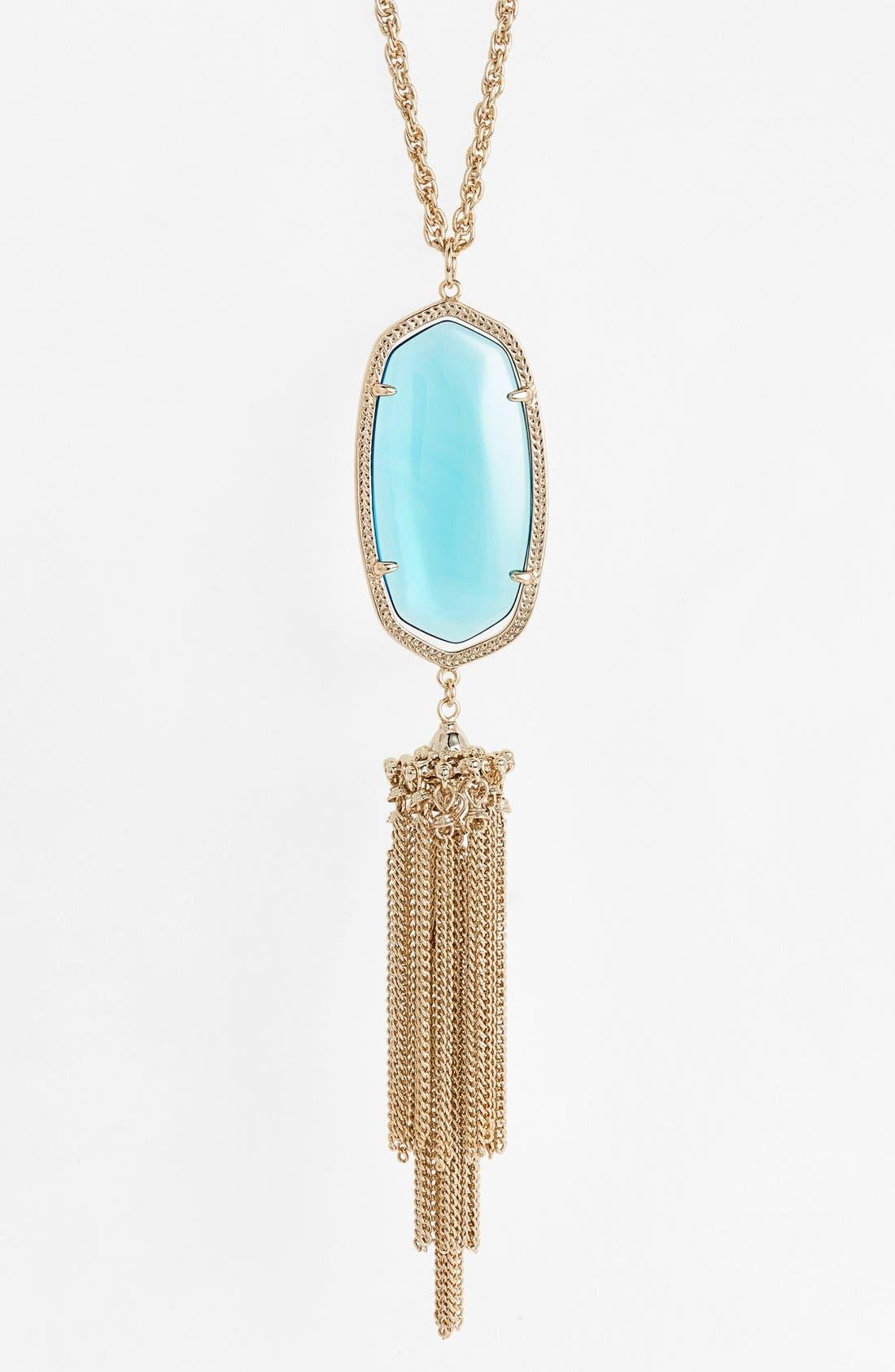 Rayne Stone Tassel Pendant Necklace,                             Alternate thumbnail 122, color,