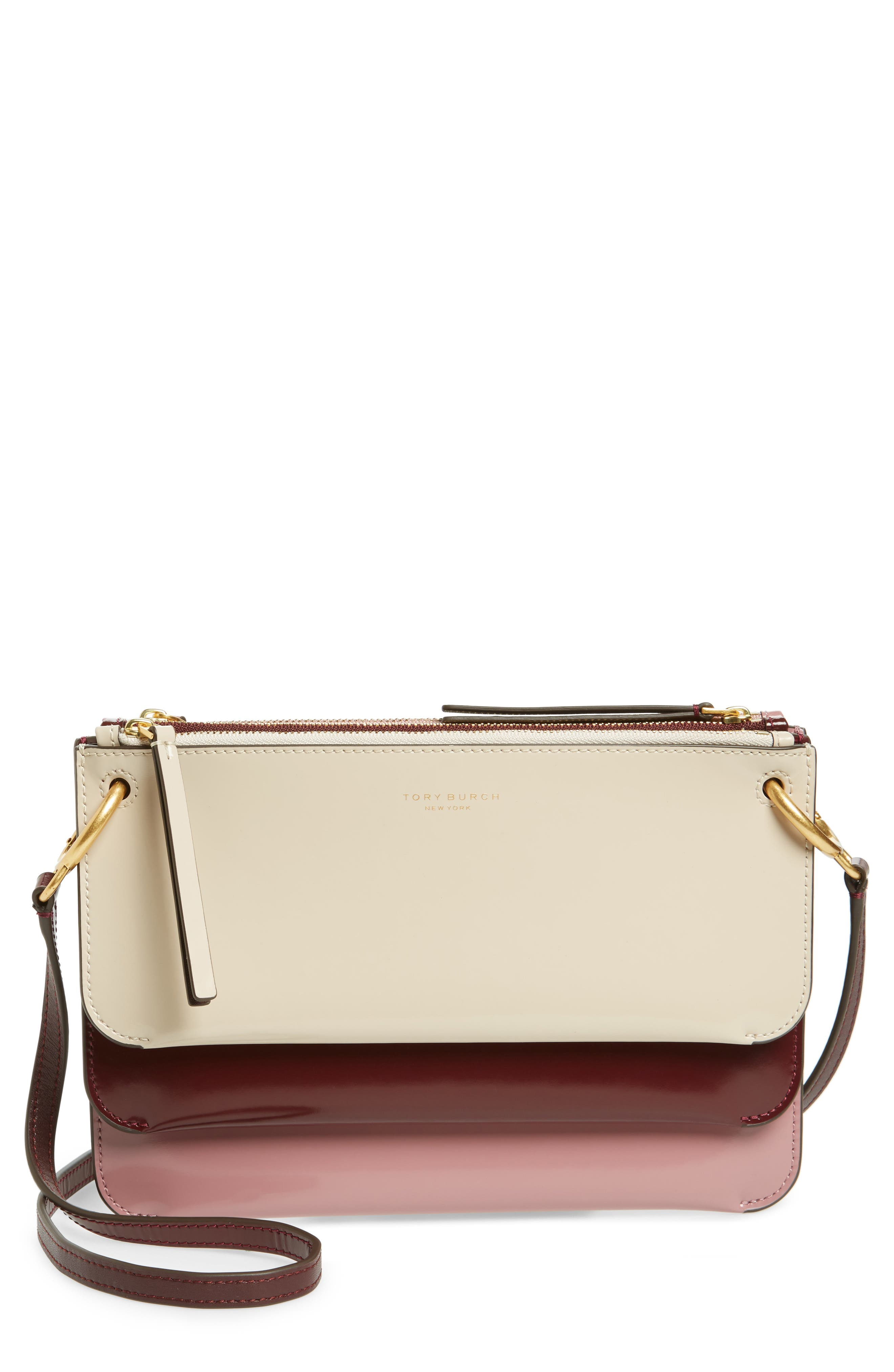 Leather Accordion Crossbody Bag,                         Main,                         color, 250