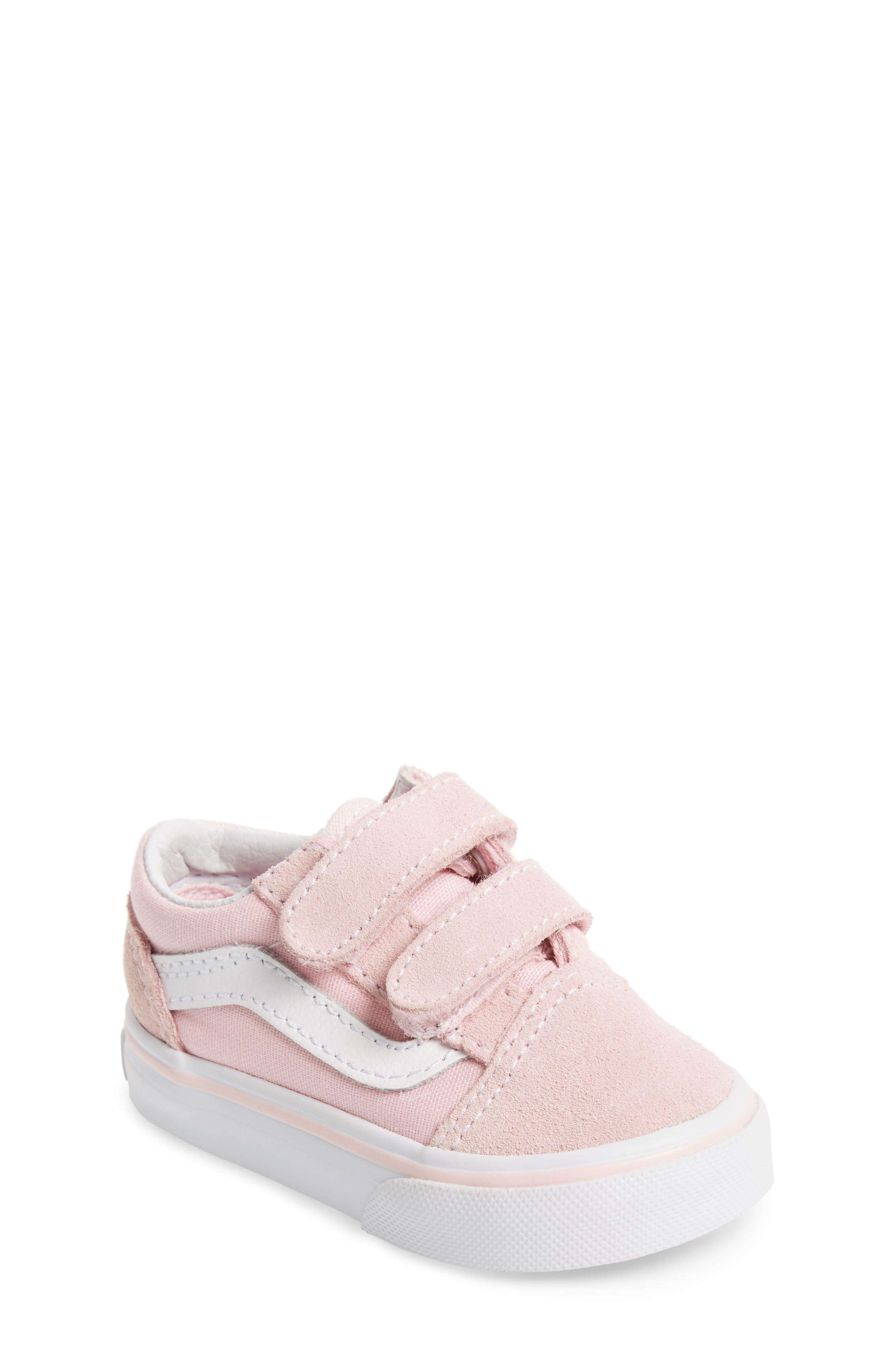 'Old Skool V' Sneaker,                             Main thumbnail 1, color,                             CHALK PINK/ TRUE WHITE
