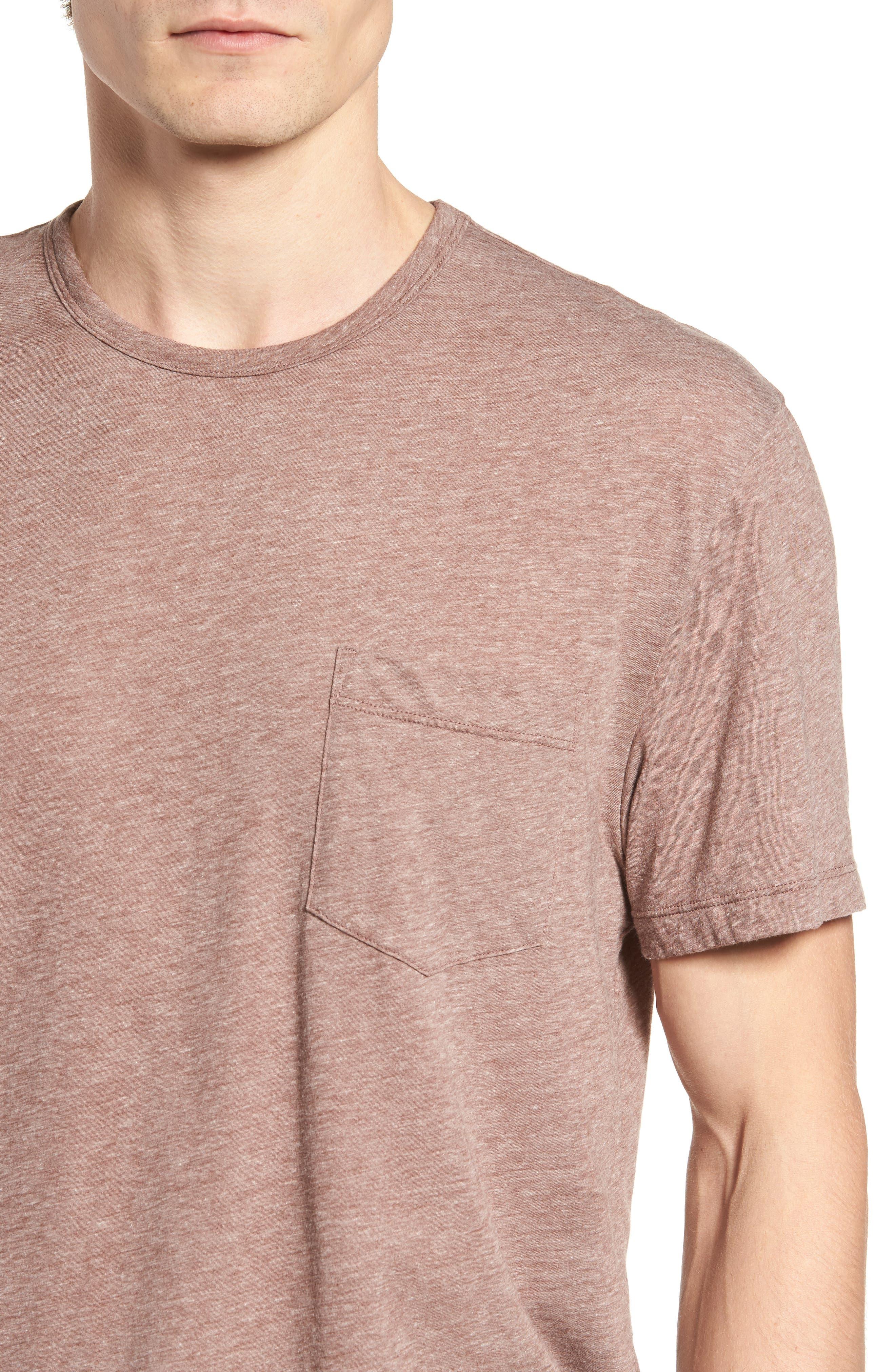 Slubbed Cotton & Linen Pocket T-Shirt,                             Alternate thumbnail 12, color,