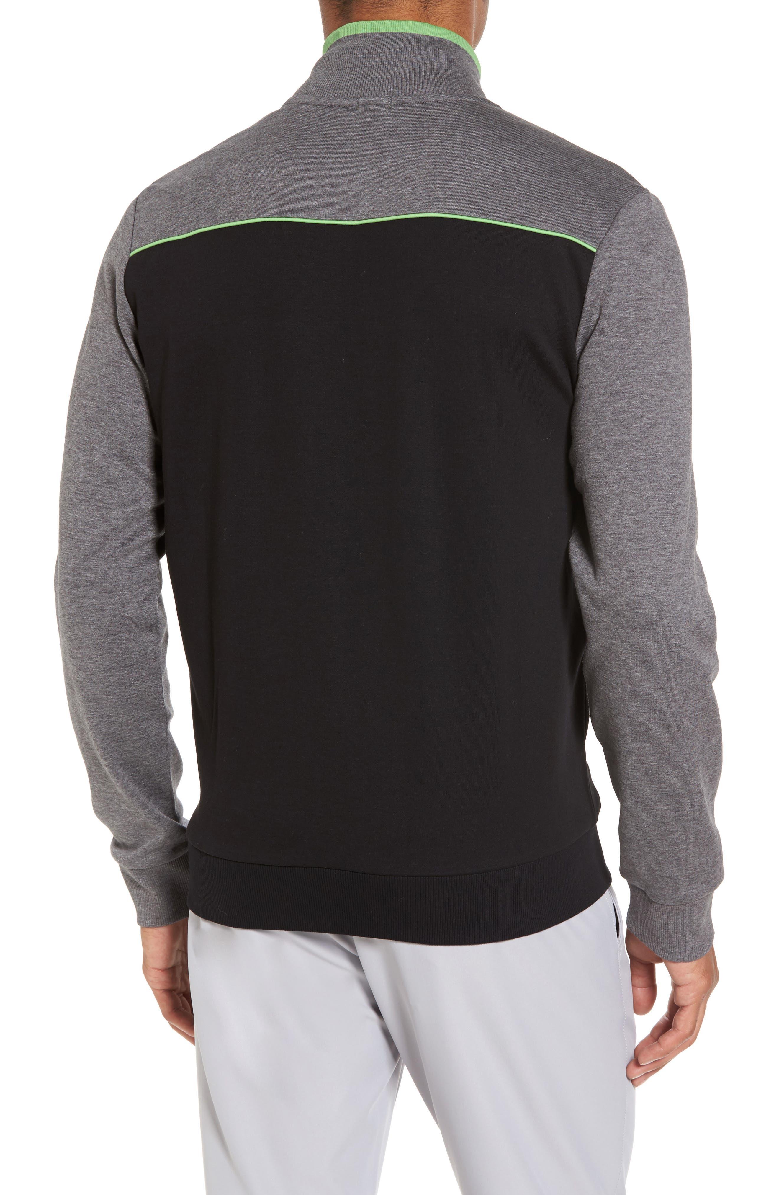 BOSS GREEN,                             Skaz Full Zip Fleece Jacket,                             Alternate thumbnail 2, color,                             001