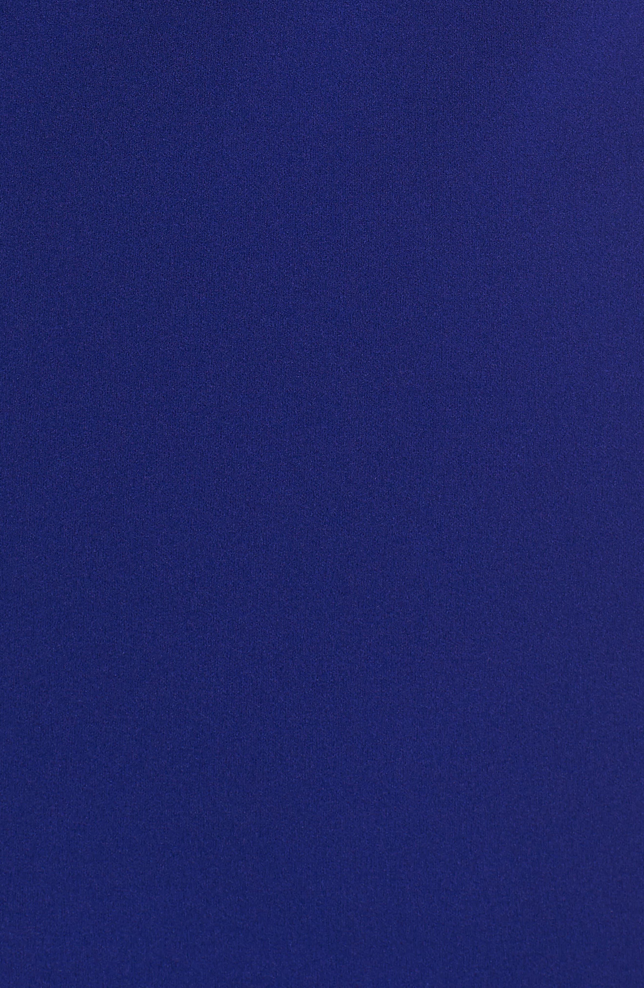 VINCE CAMUTO,                             Asymmetrical Ruffle Hem Scuba Crepe Dress,                             Alternate thumbnail 6, color,                             430