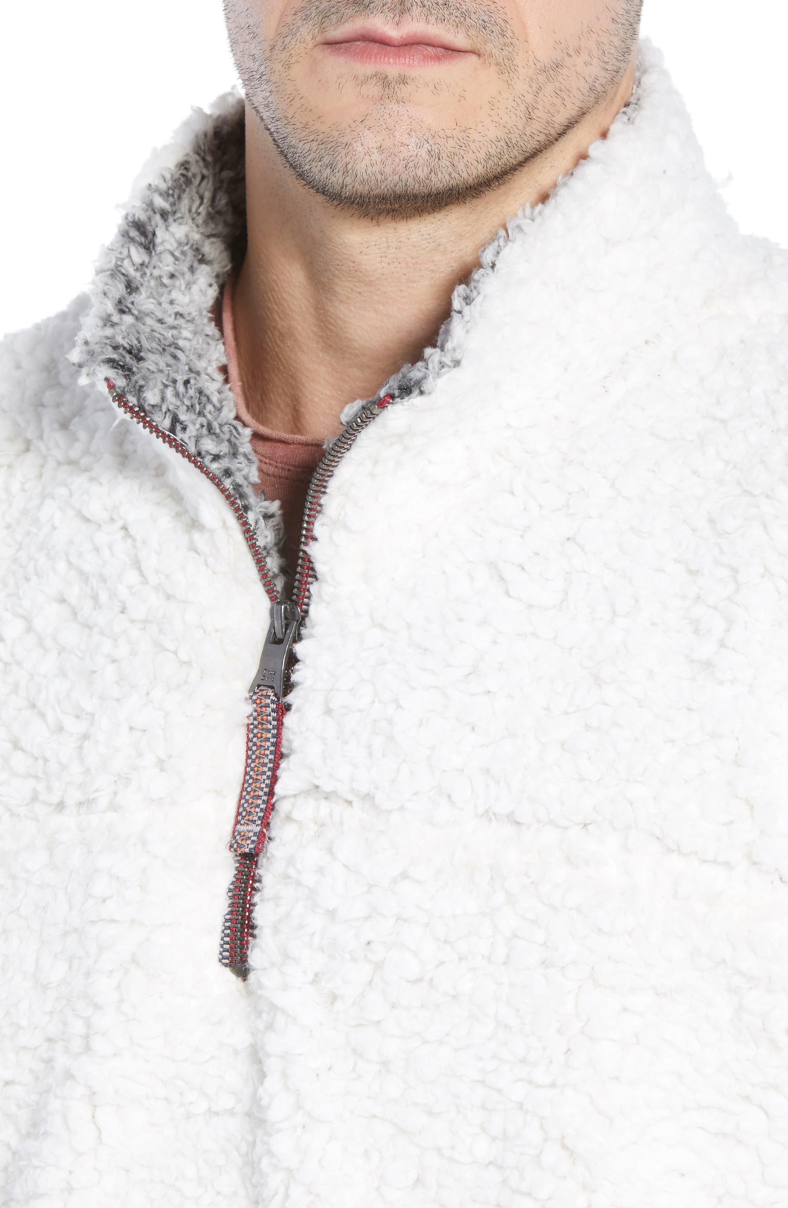 Frosty Tipped Quarter Zip Pullover,                             Alternate thumbnail 4, color,                             IVORY