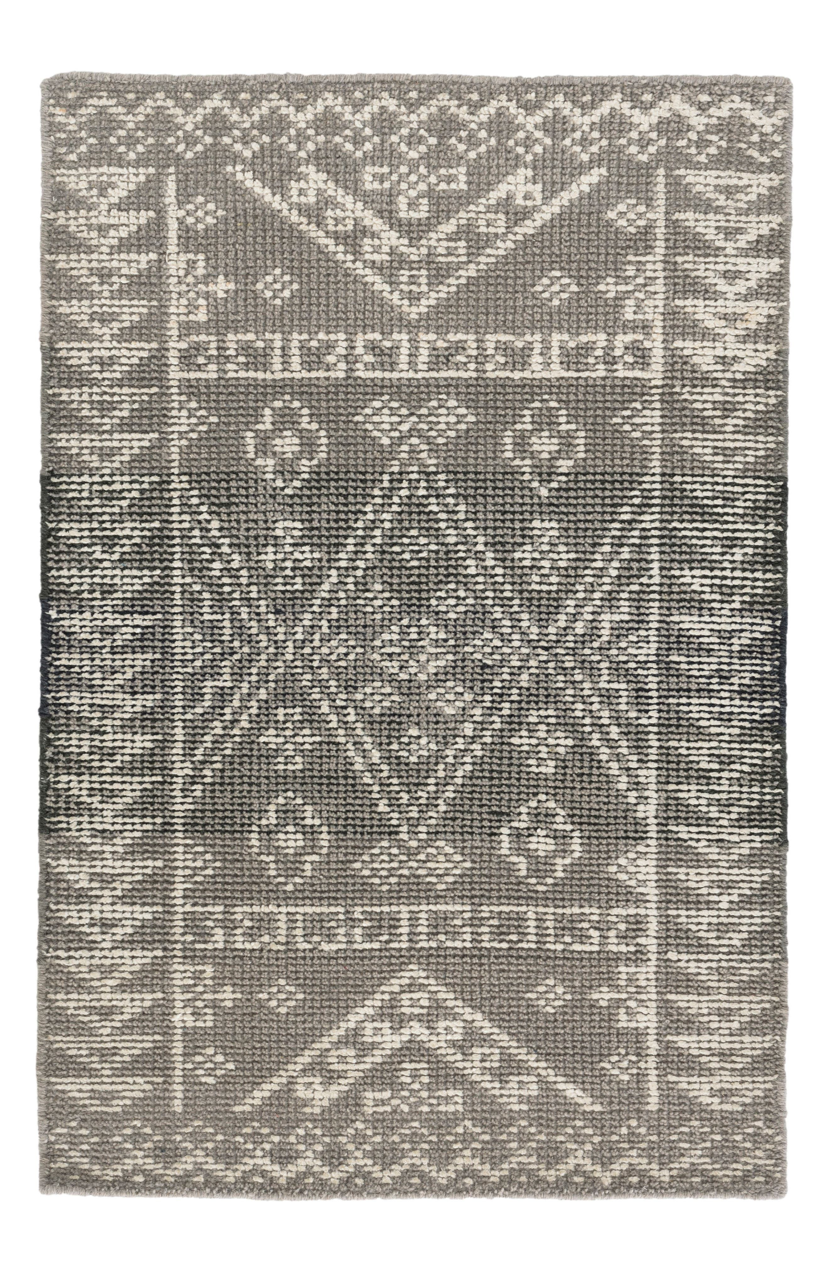 Arelli Hand Knotted Rug,                             Main thumbnail 1, color,                             GREY
