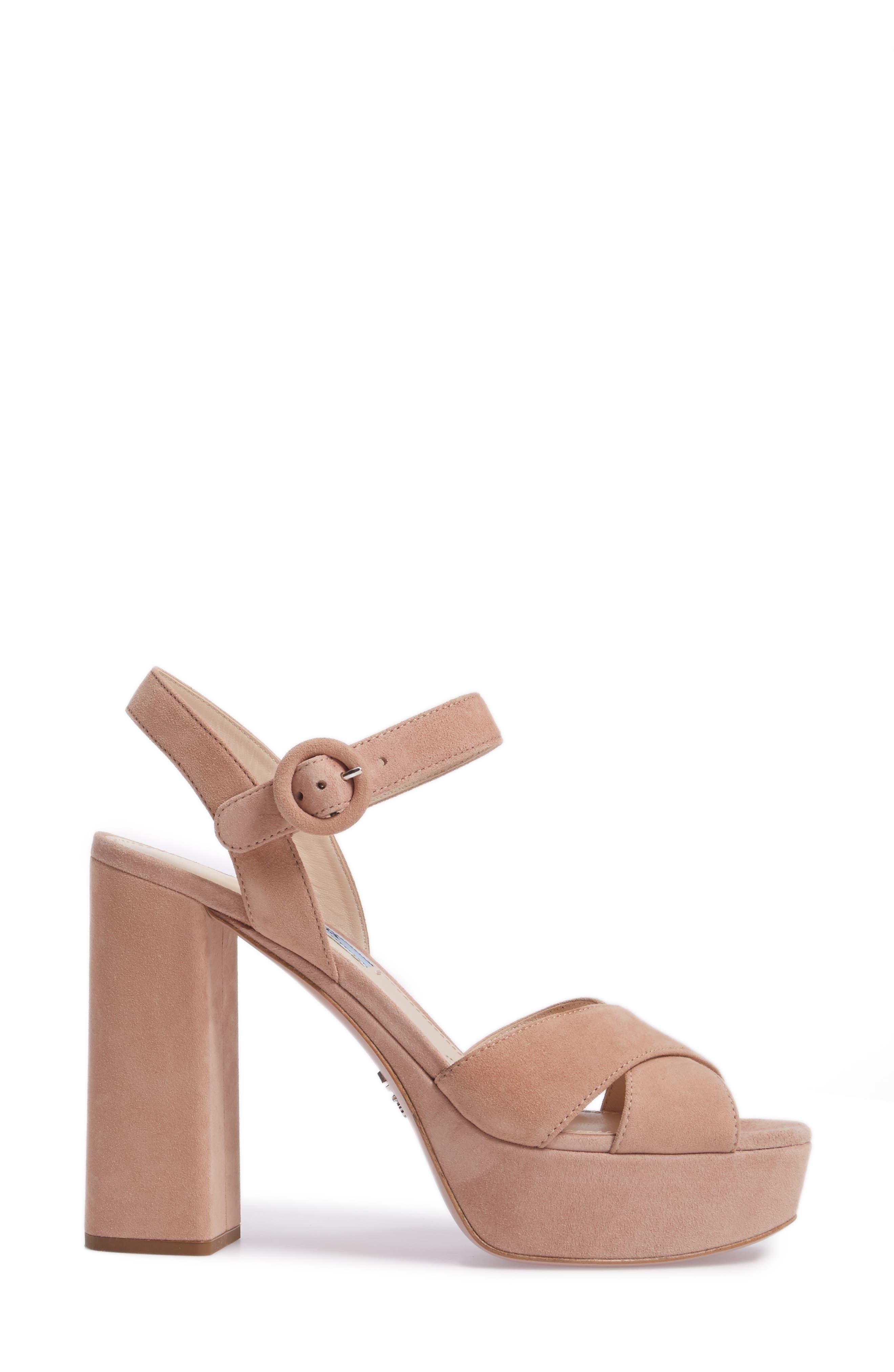 Block Heel Platform Sandal,                             Alternate thumbnail 3, color,                             250