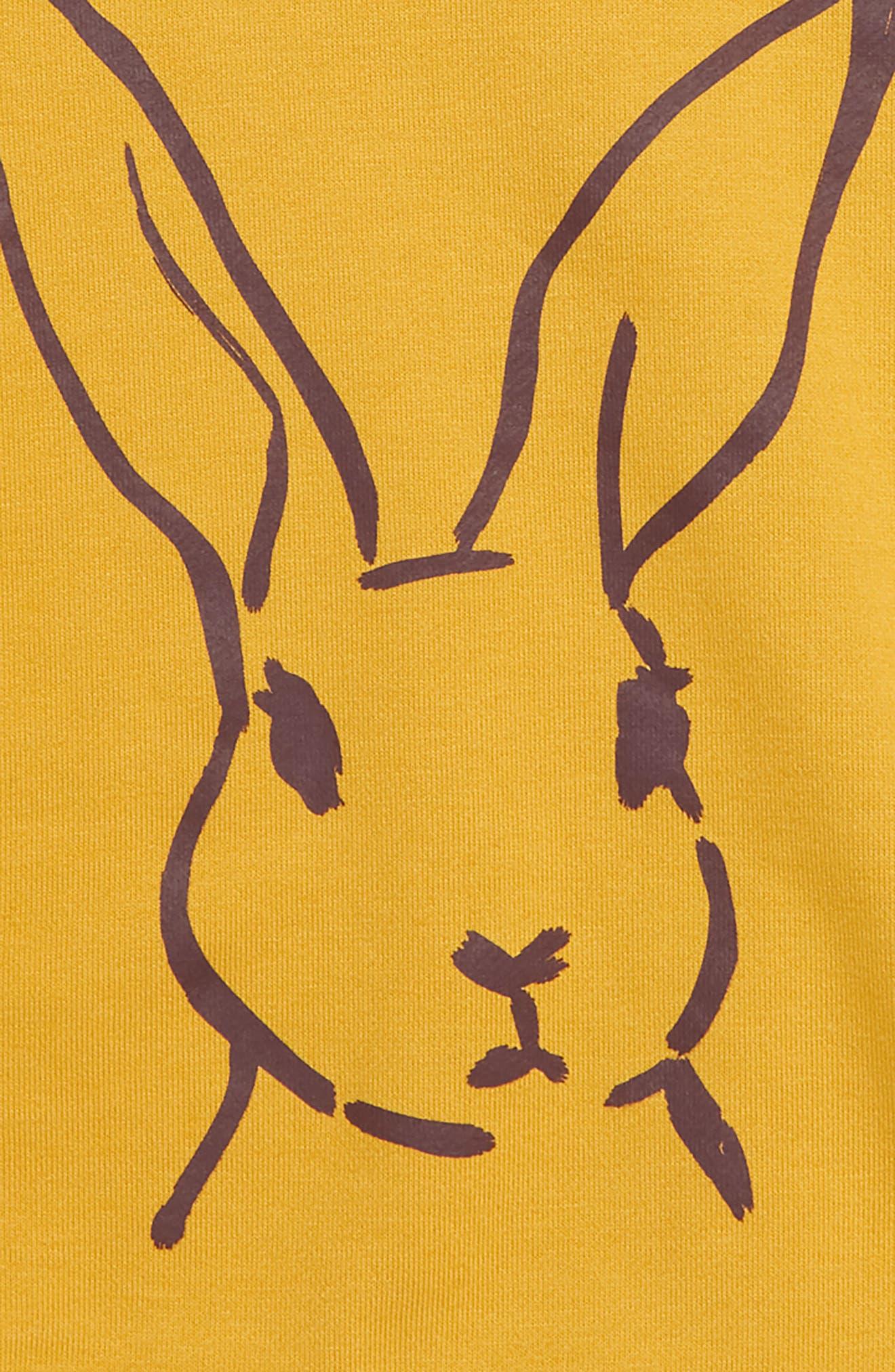 SOVEREIGN CODE,                             Kennedy Bunny Graphic Sweatshirt,                             Alternate thumbnail 2, color,                             BUNNY/ MARIGOLD