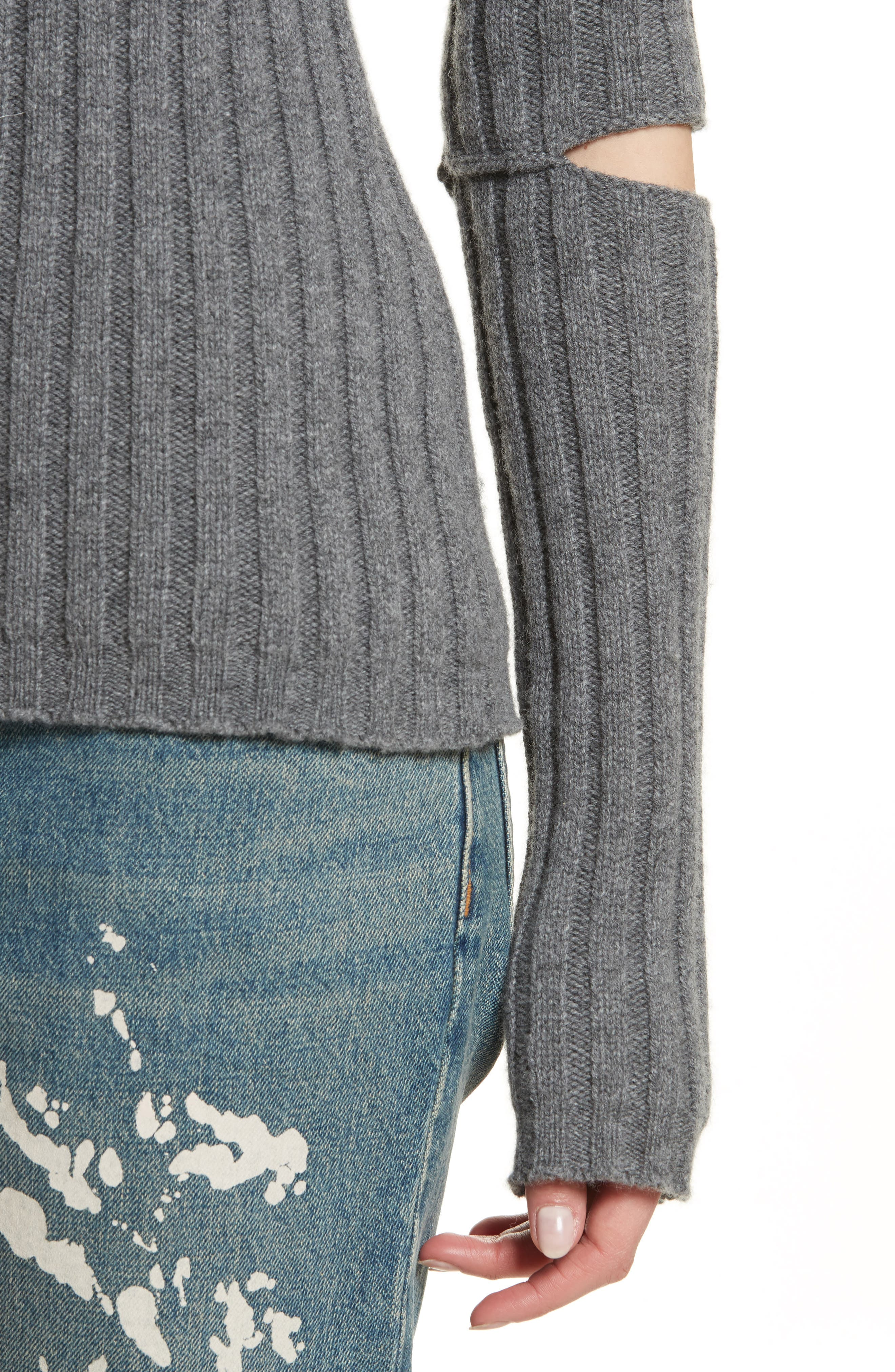 Re-Edition Elbow Cutout Lambswool Sweater,                             Alternate thumbnail 4, color,                             030