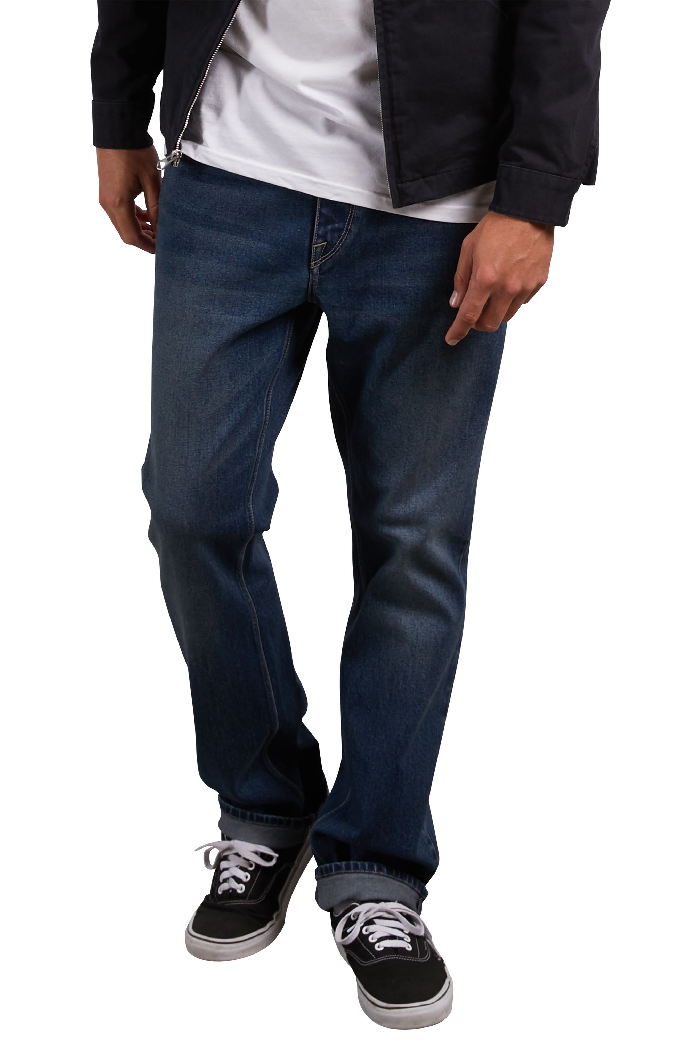 Kinkade Tapered Leg Jeans,                         Main,                         color, BLUE DRY