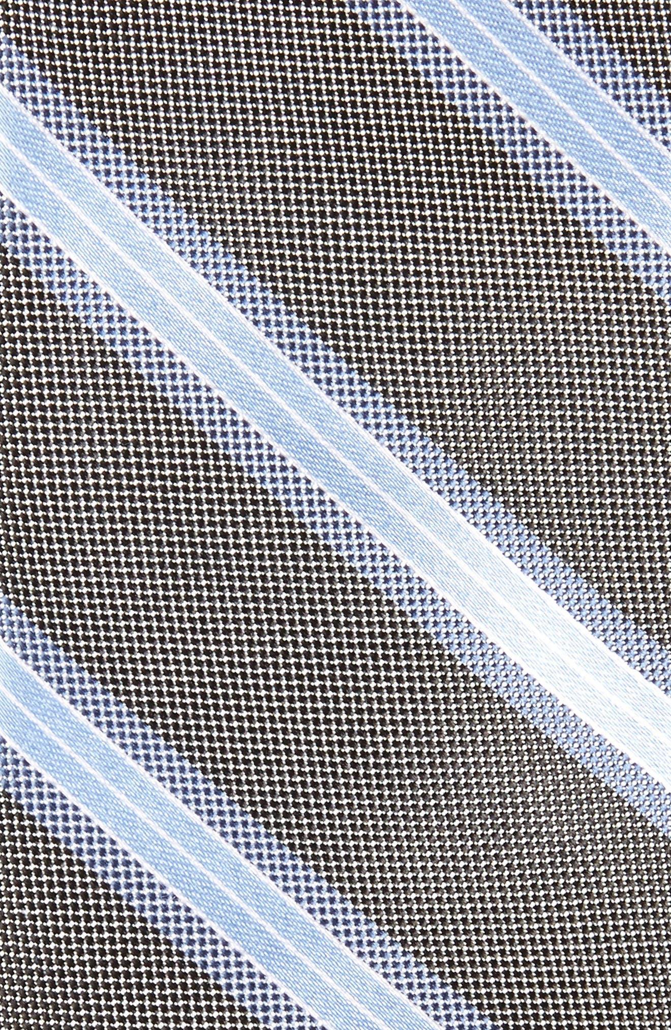 Stripe Silk Skinny Tie,                             Alternate thumbnail 5, color,