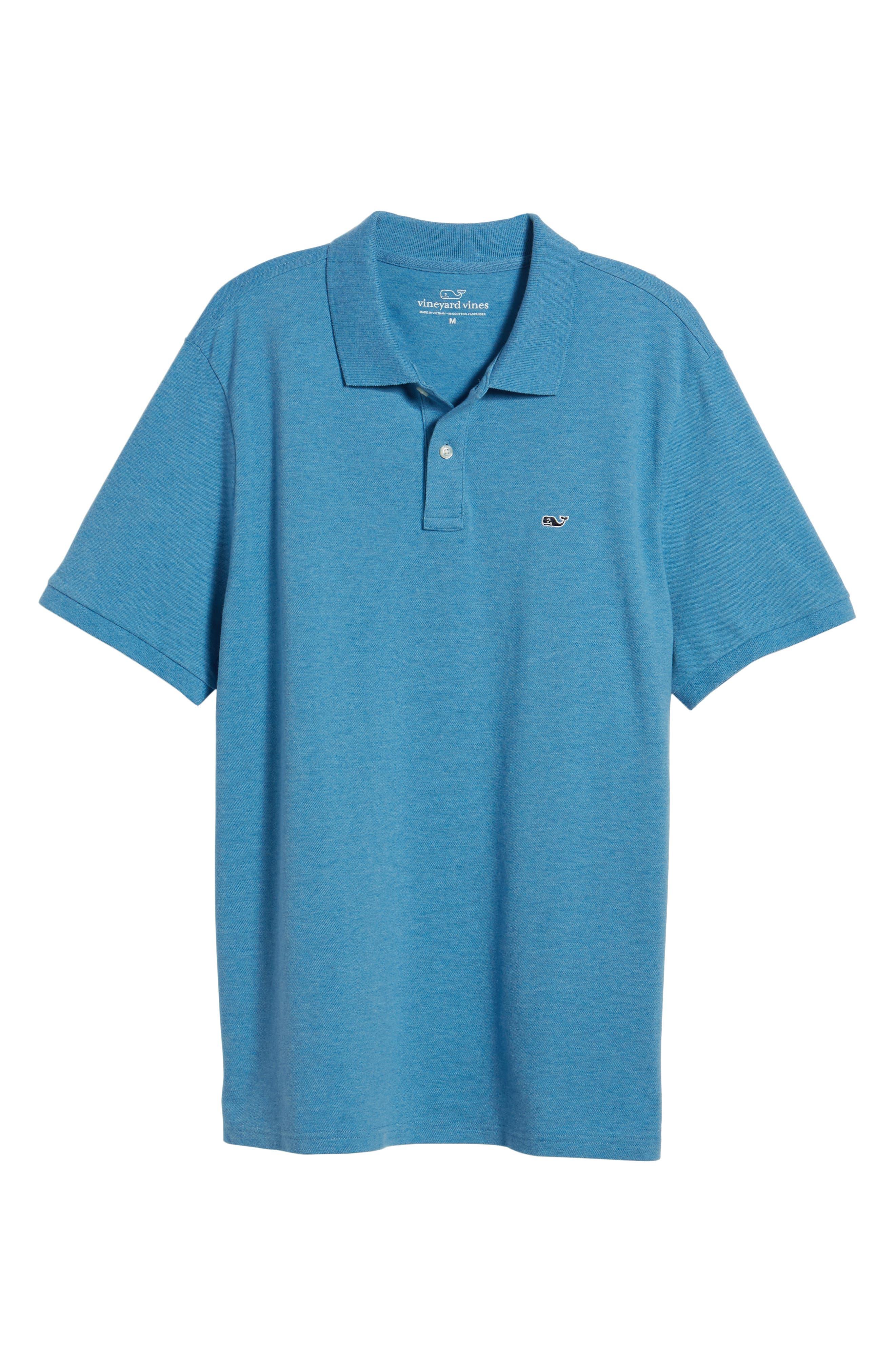 Regular Fit Piqué Polo,                             Alternate thumbnail 6, color,                             DOCKSIDE BLUE