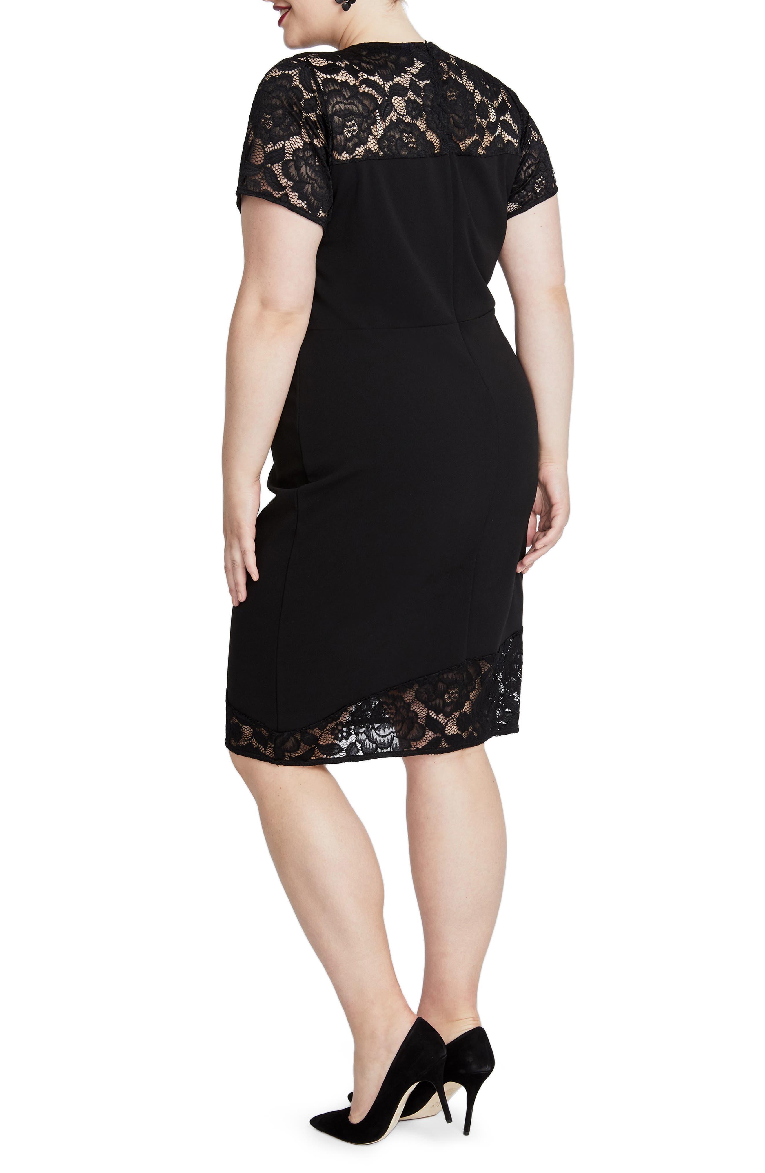 Jamie Lace Dress,                             Alternate thumbnail 2, color,                             001
