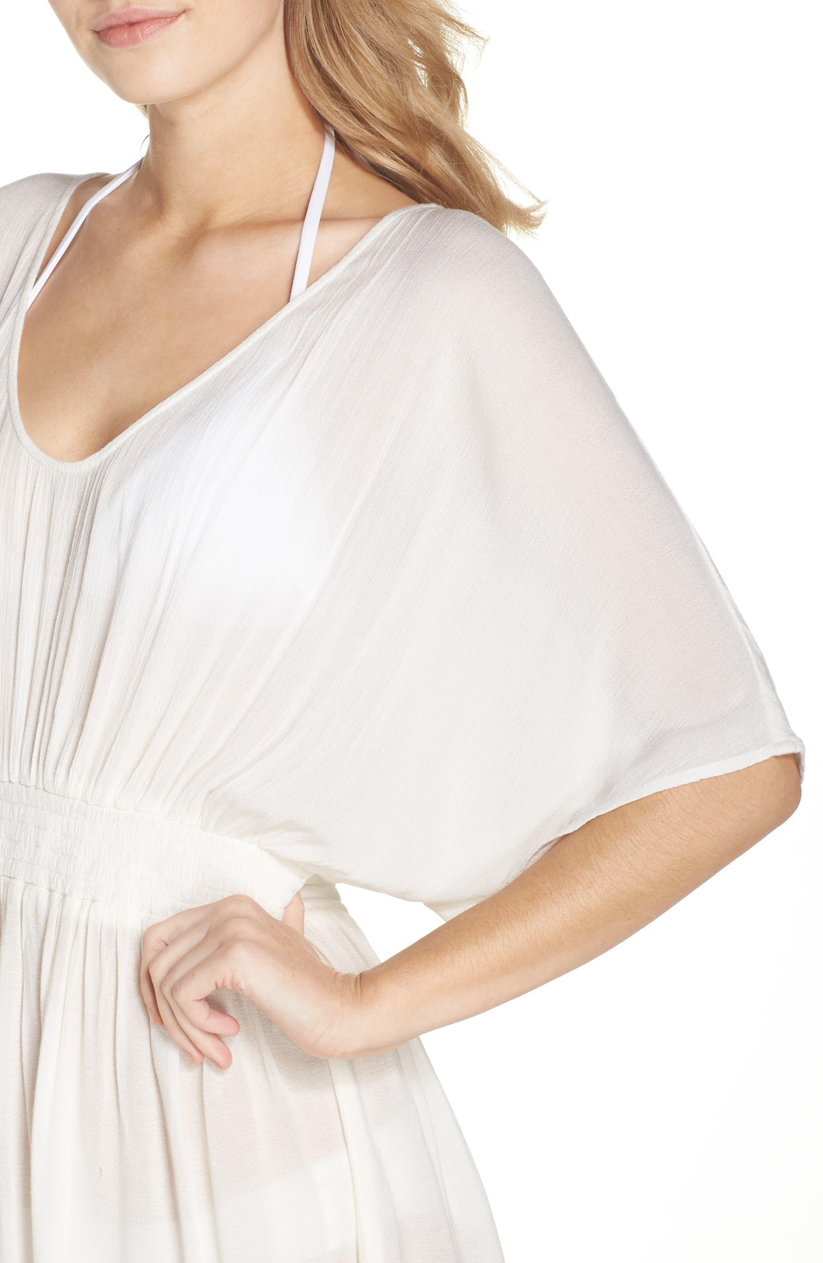 Goddess Cover-Up Dress,                             Alternate thumbnail 4, color,                             IVORY EGRET