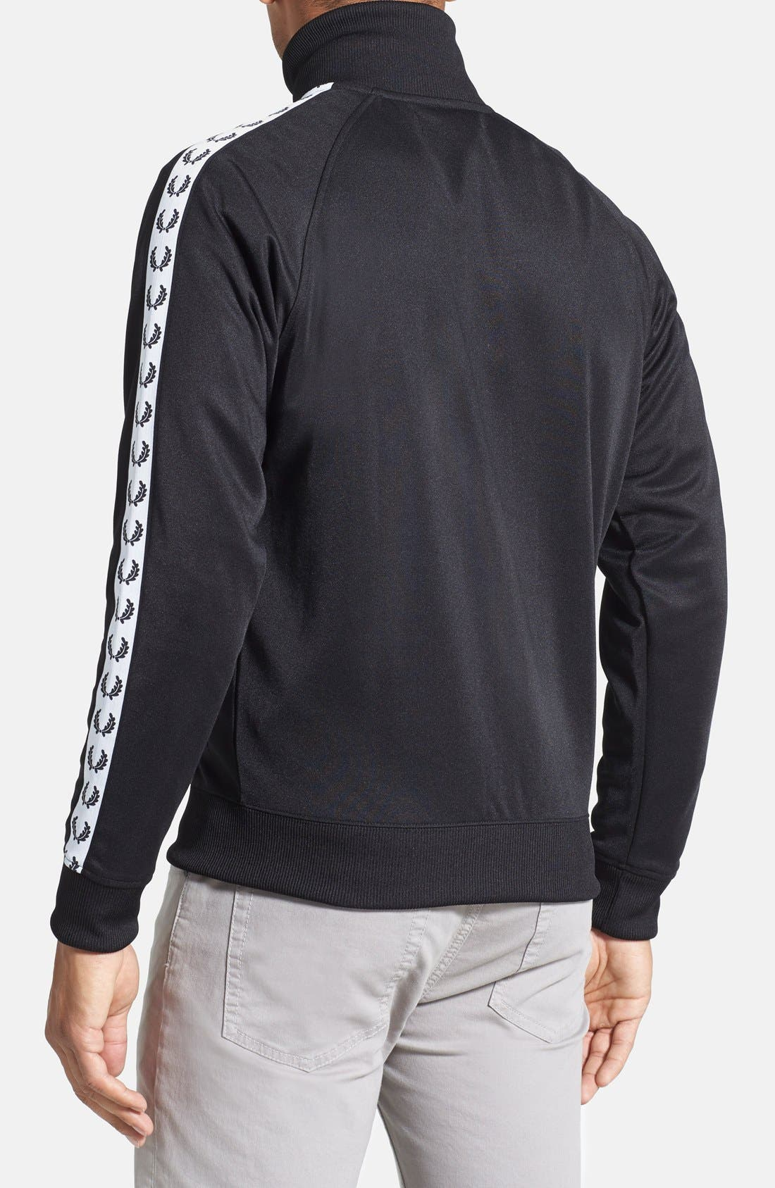FRED PERRY,                             Laurel Tape Track Jacket,                             Alternate thumbnail 8, color,                             002