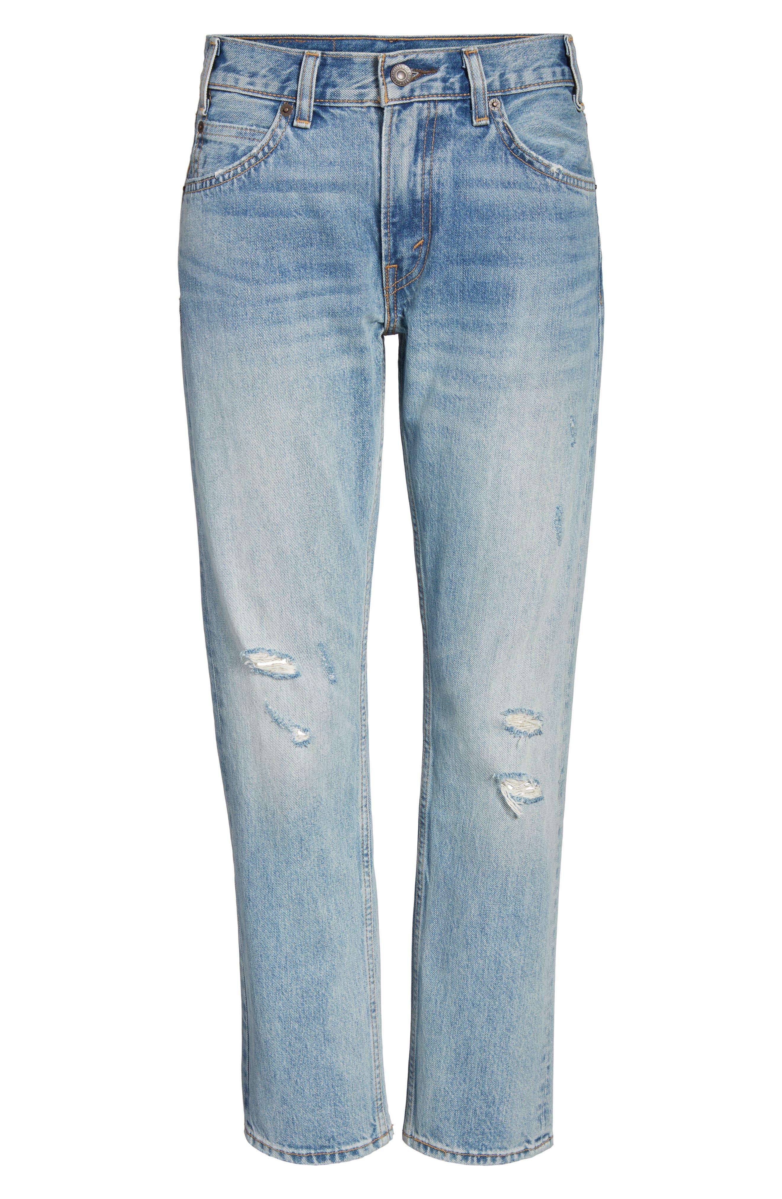 505<sup>™</sup>C Crop Straight Leg Jeans,                             Alternate thumbnail 6, color,                             450