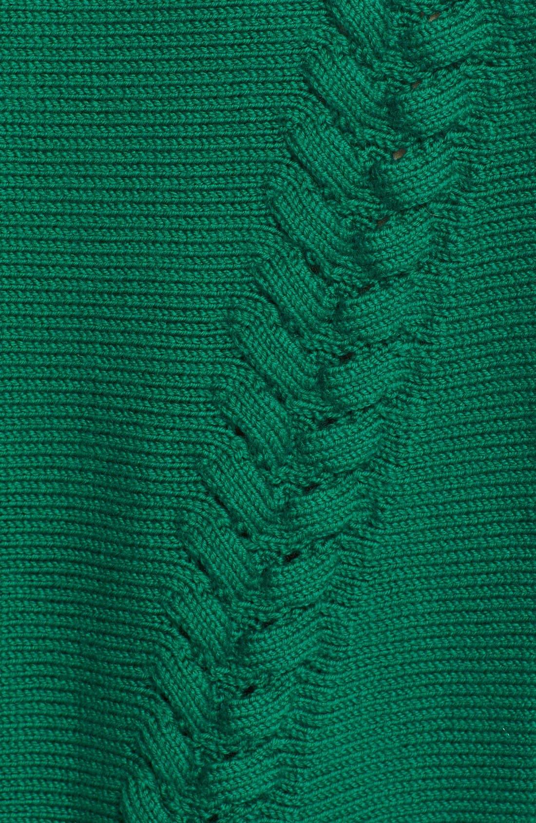 Braid Stitch Wool Crop Sweater,                             Alternate thumbnail 2, color,                             301