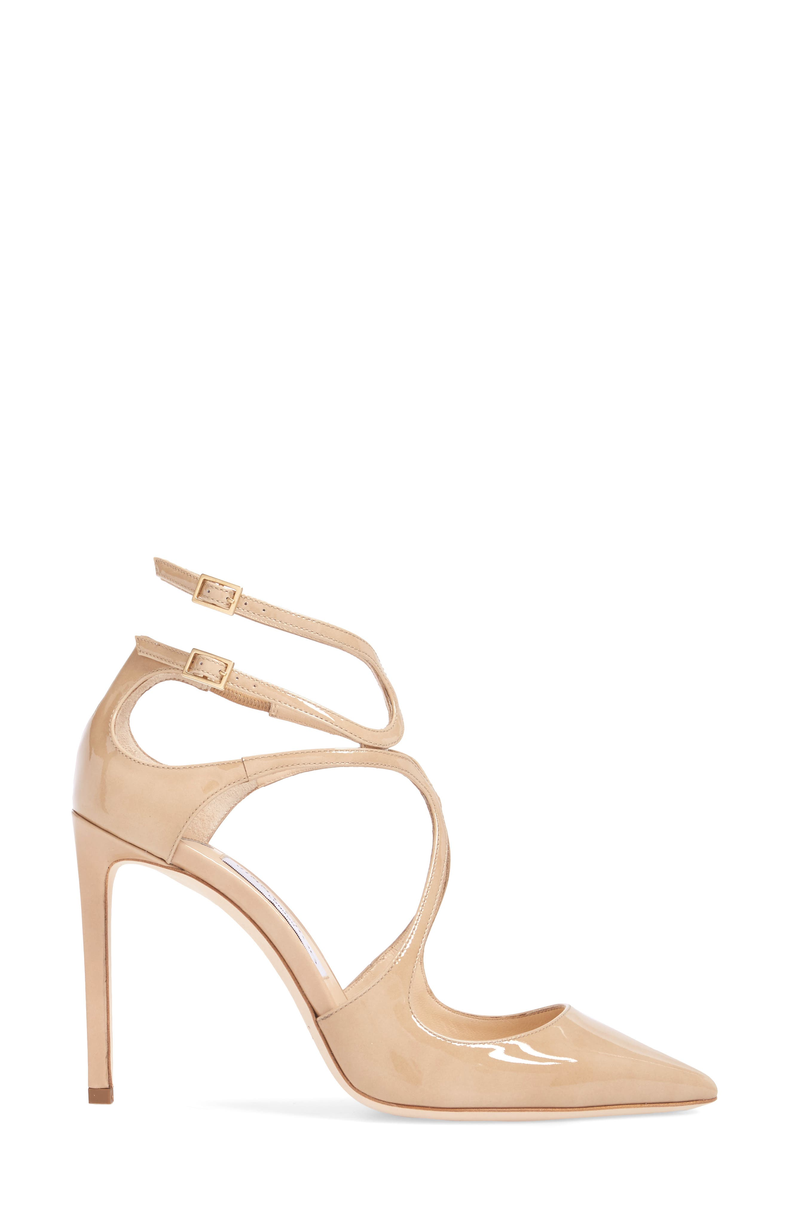 Lancer Strappy Pump,                             Alternate thumbnail 3, color,                             NUDE PATENT