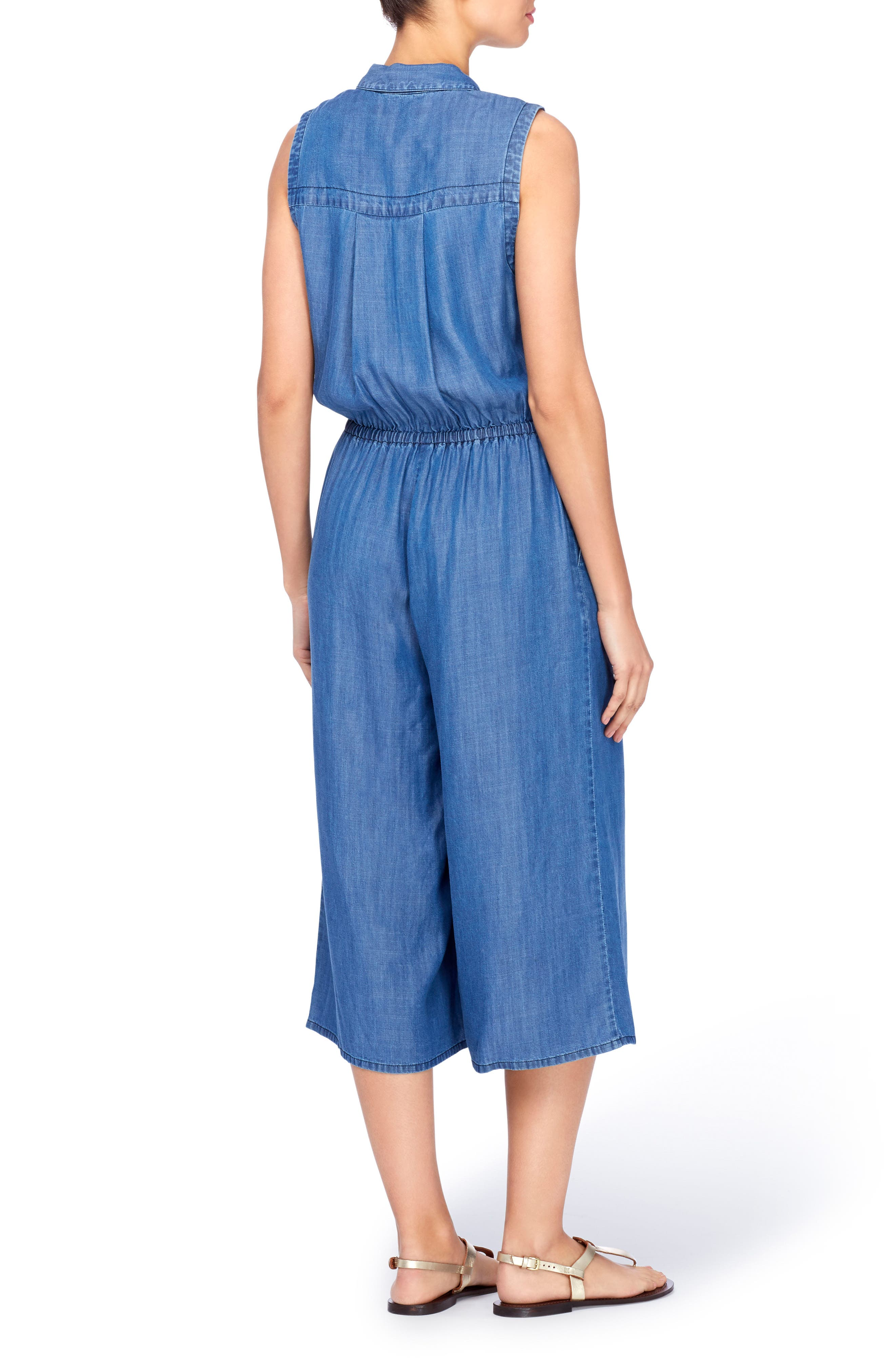 Bethea Chambray Jumpsuit,                             Alternate thumbnail 2, color,                             496
