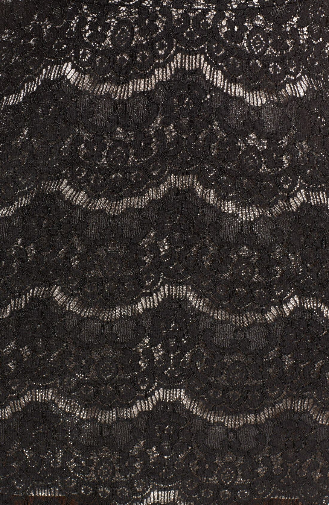 Lace Fit & Flare Dress,                             Alternate thumbnail 2, color,                             001
