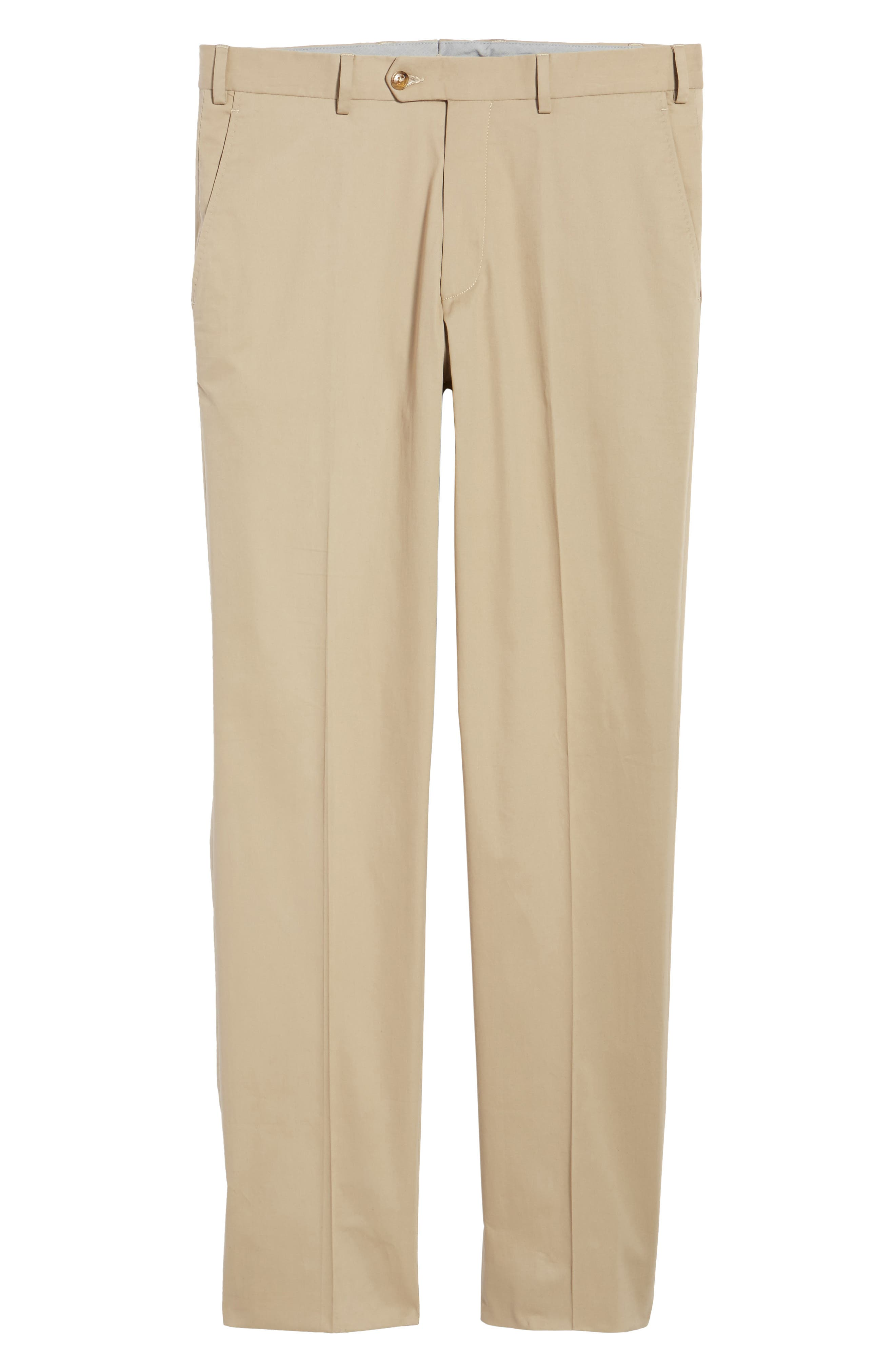 Perfect Flat Front Poplin Pants,                             Alternate thumbnail 6, color,                             260