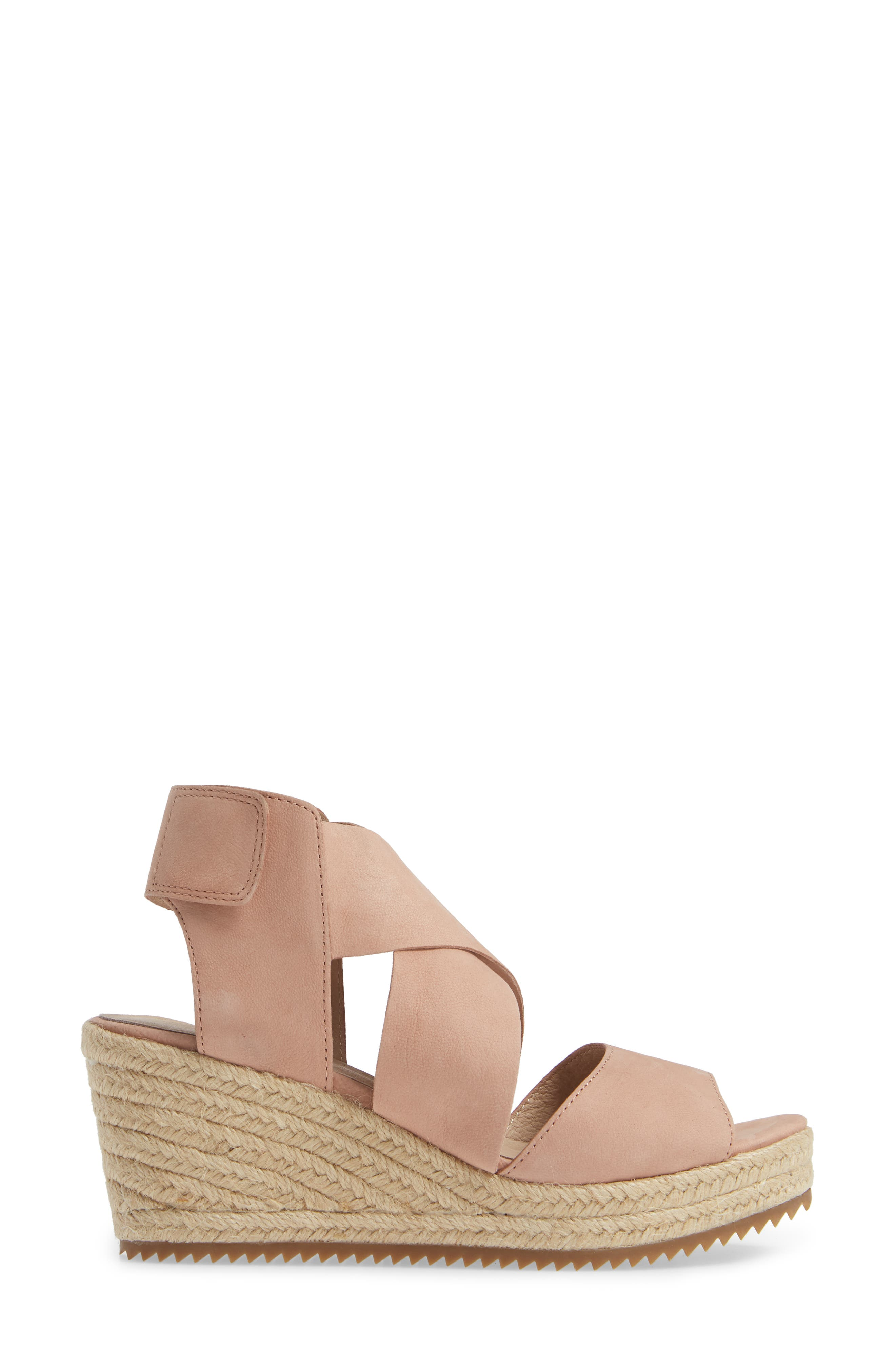 'Willow' Espadrille Wedge Sandal,                             Alternate thumbnail 3, color,                             TOFFEE CREAM NUBUCK