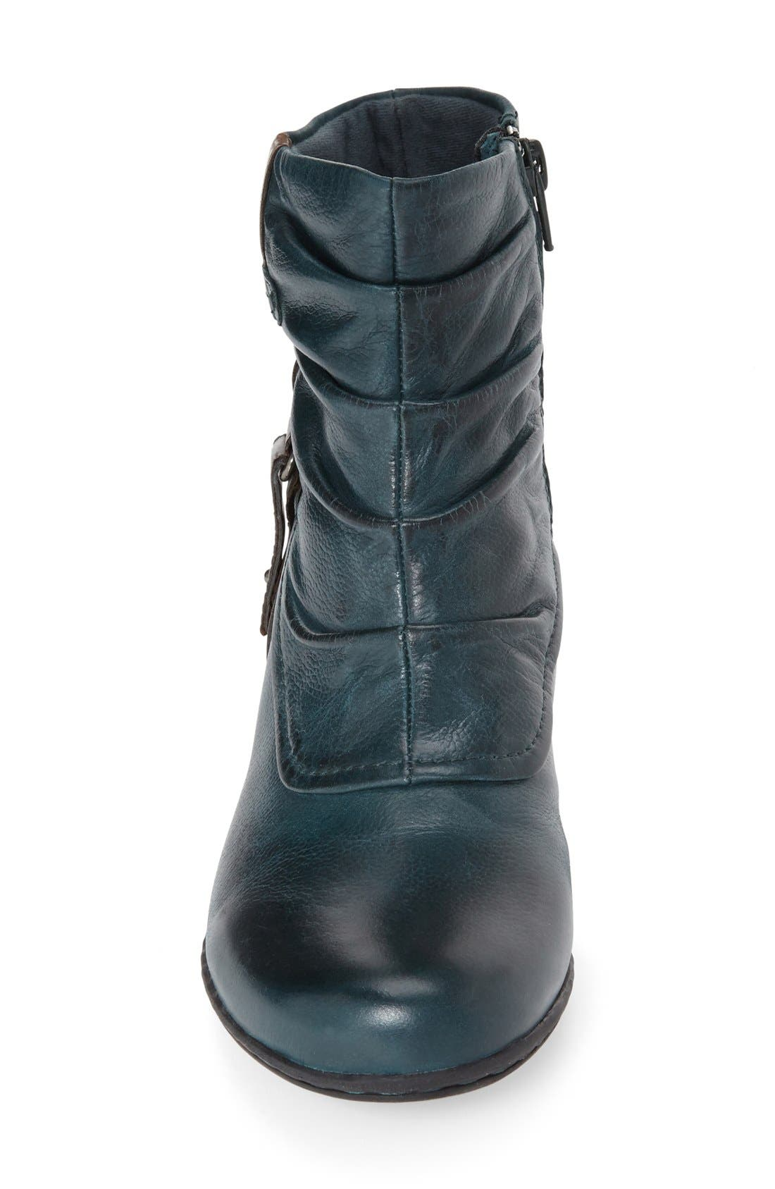 'Alexandra' Boot,                             Alternate thumbnail 3, color,                             BLUE/ TEAL LEATHER