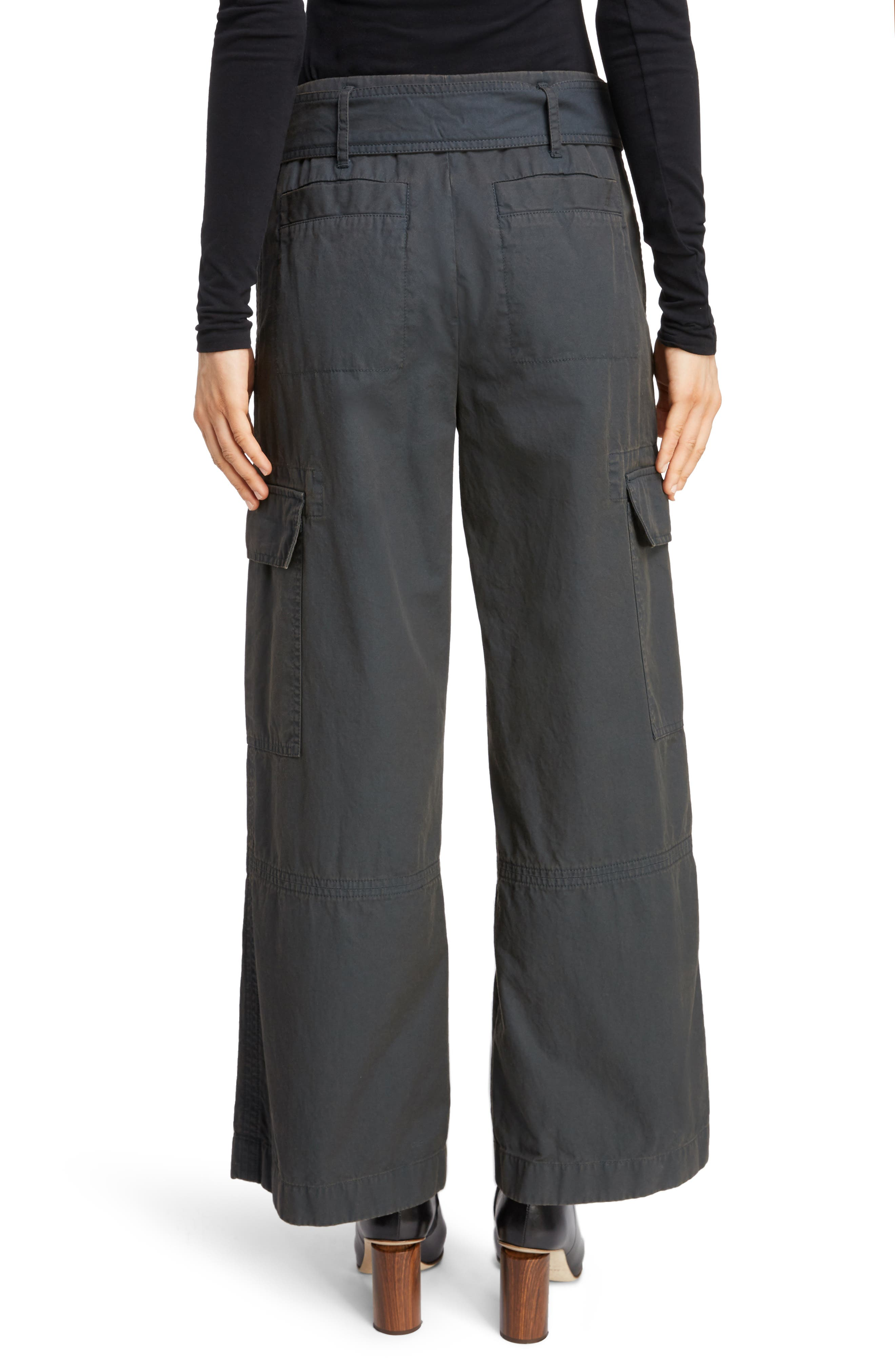 ACNE STUDIOS,                             Patrice Cotton Chino Trousers,                             Alternate thumbnail 2, color,                             ANTHRACITE GREY