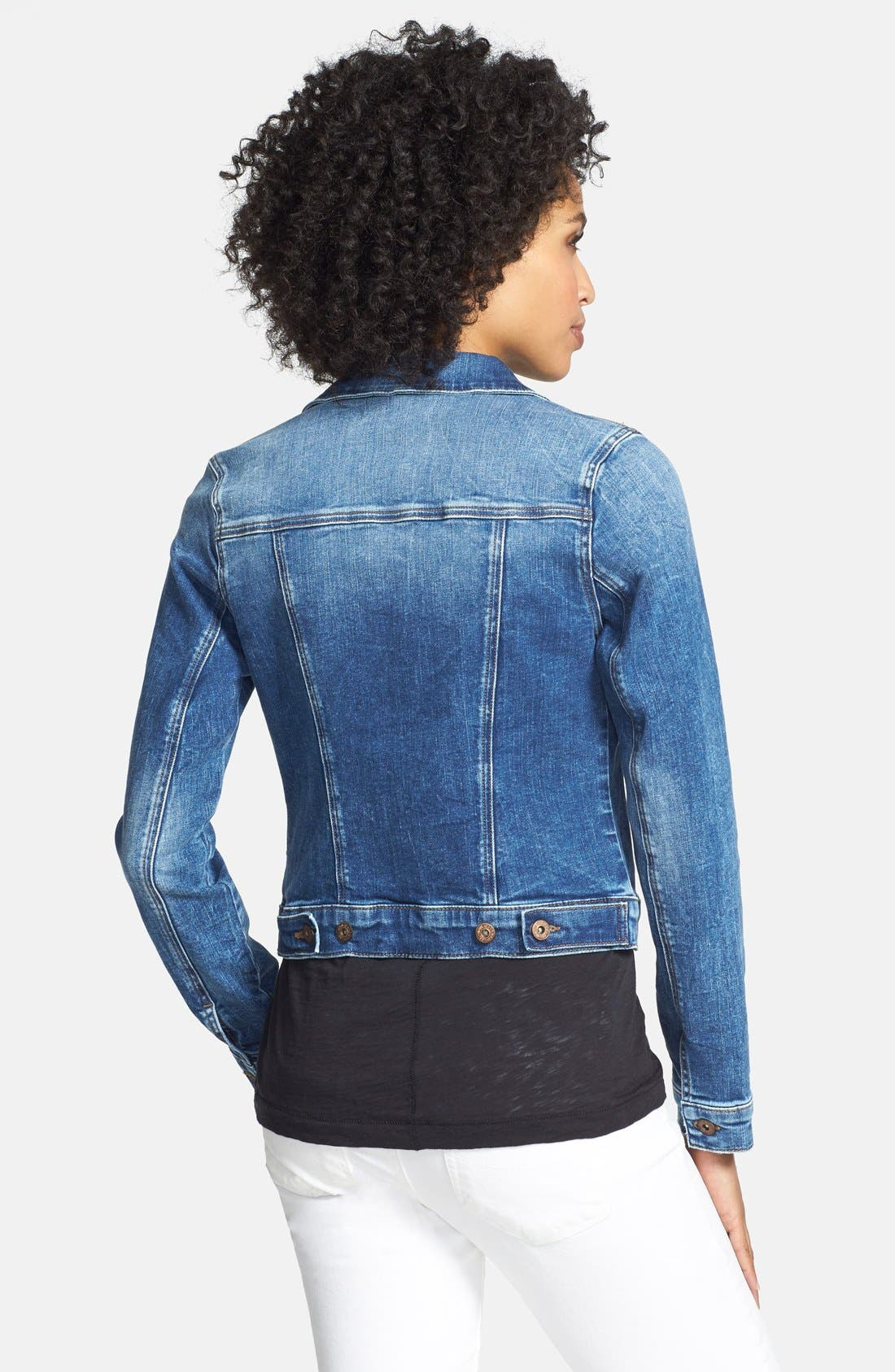 'Samantha' Denim Jacket,                             Alternate thumbnail 6, color,                             450