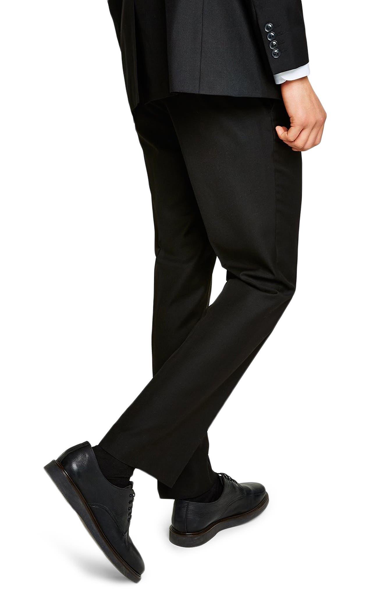 Slim Fit Suit Trousers,                             Alternate thumbnail 2, color,                             BLACK