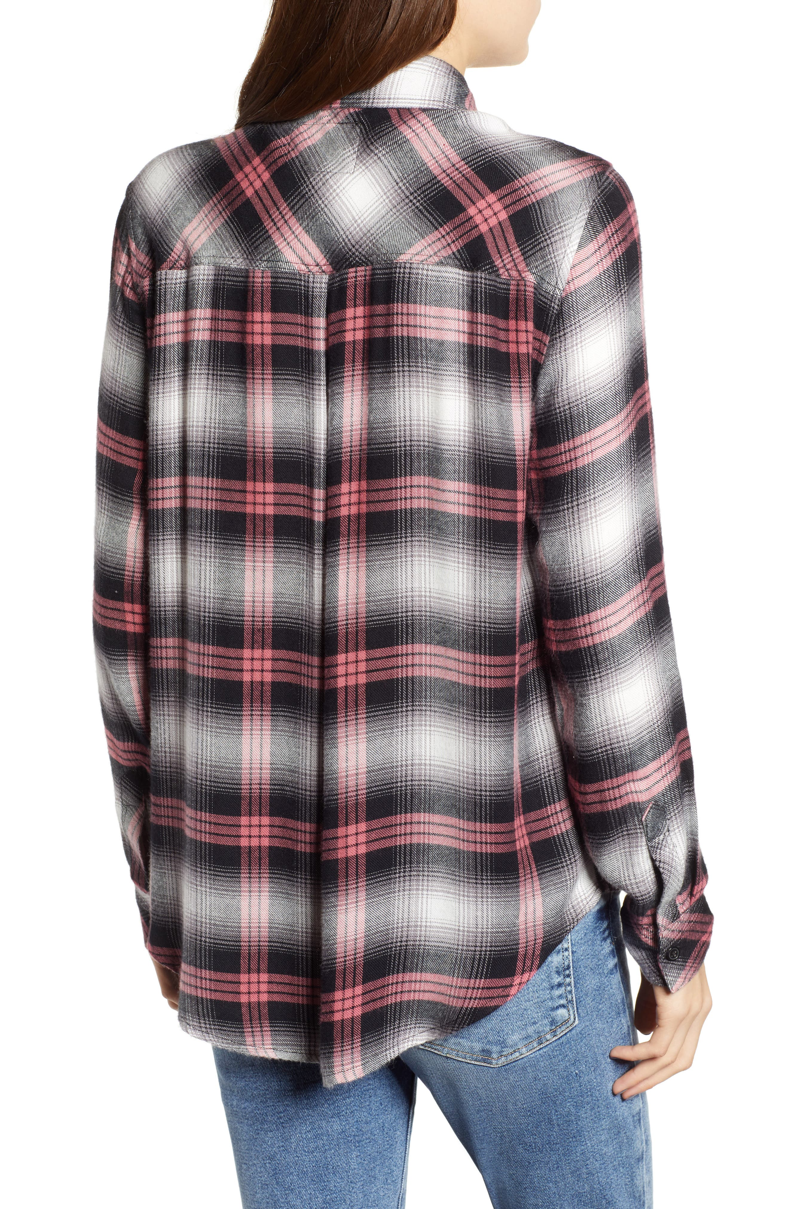 Hunter Plaid Shirt,                             Alternate thumbnail 3, color,                             BLACK TAFFY