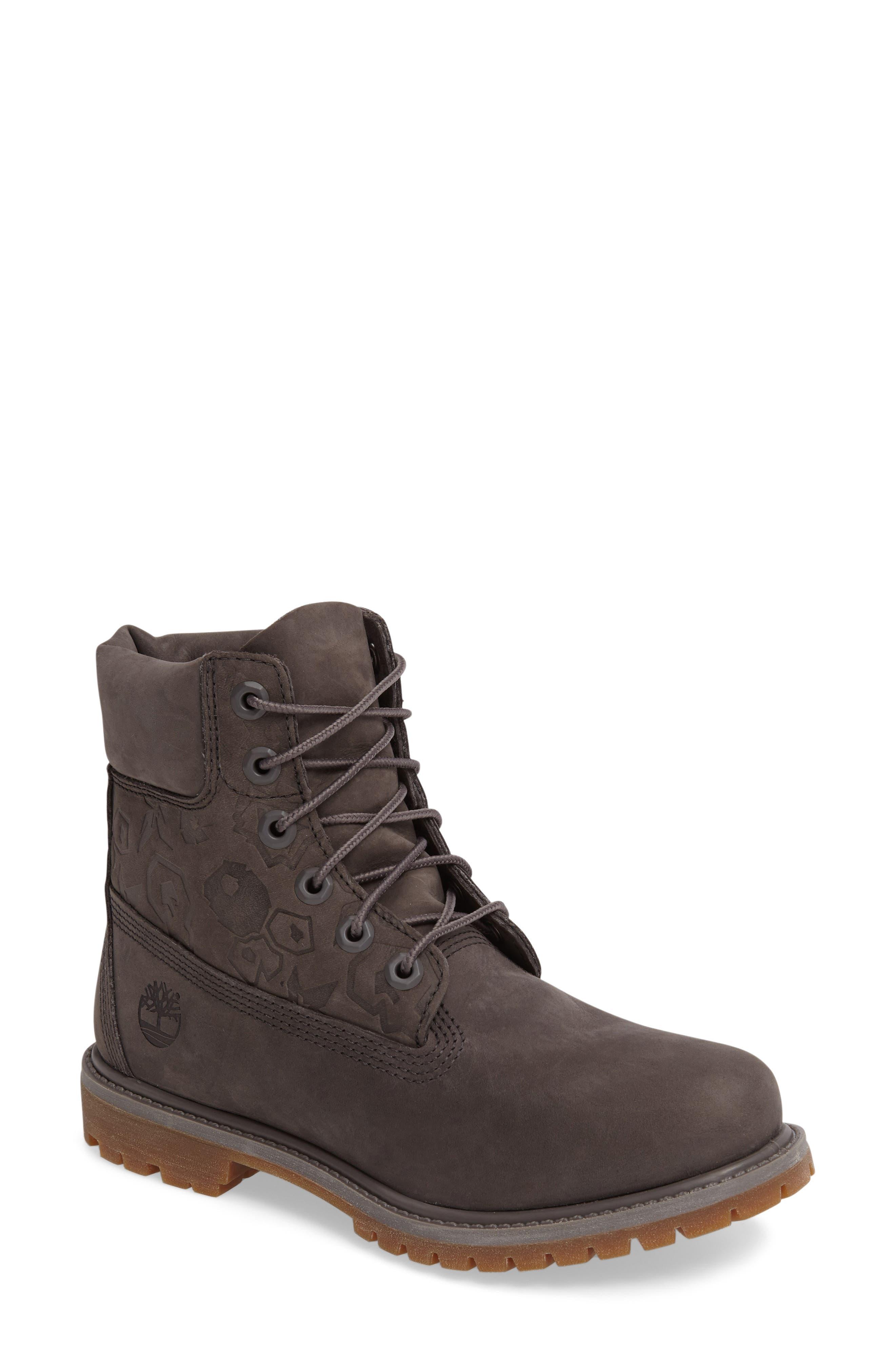 6-Inch Premium Embossed Waterproof Boot,                         Main,                         color, 021