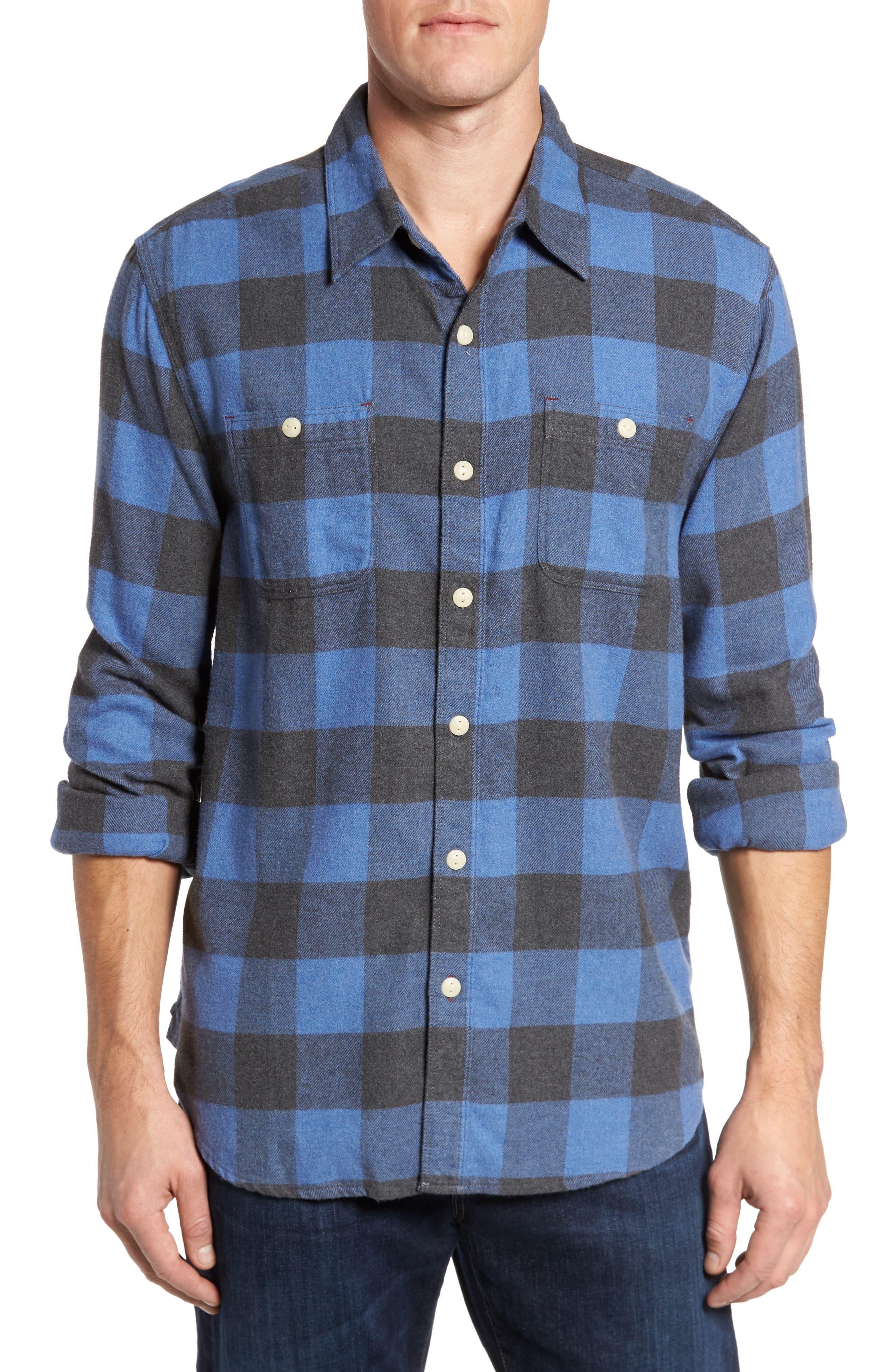 Road Trip Check Flannel Shirt,                             Main thumbnail 1, color,