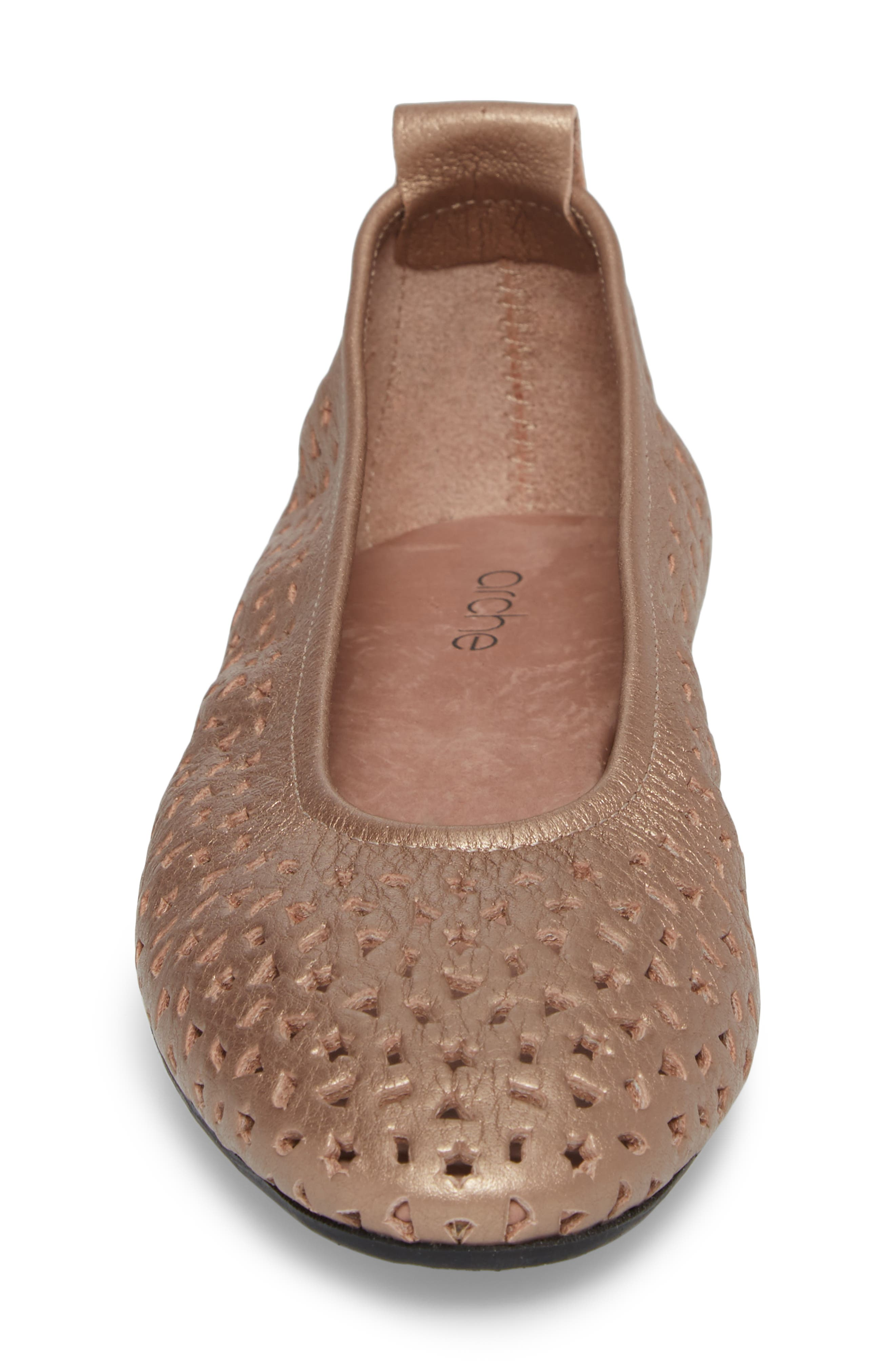 'Lilly' Flat,                             Alternate thumbnail 4, color,                             ANTICO/ BLUSH LEATHER