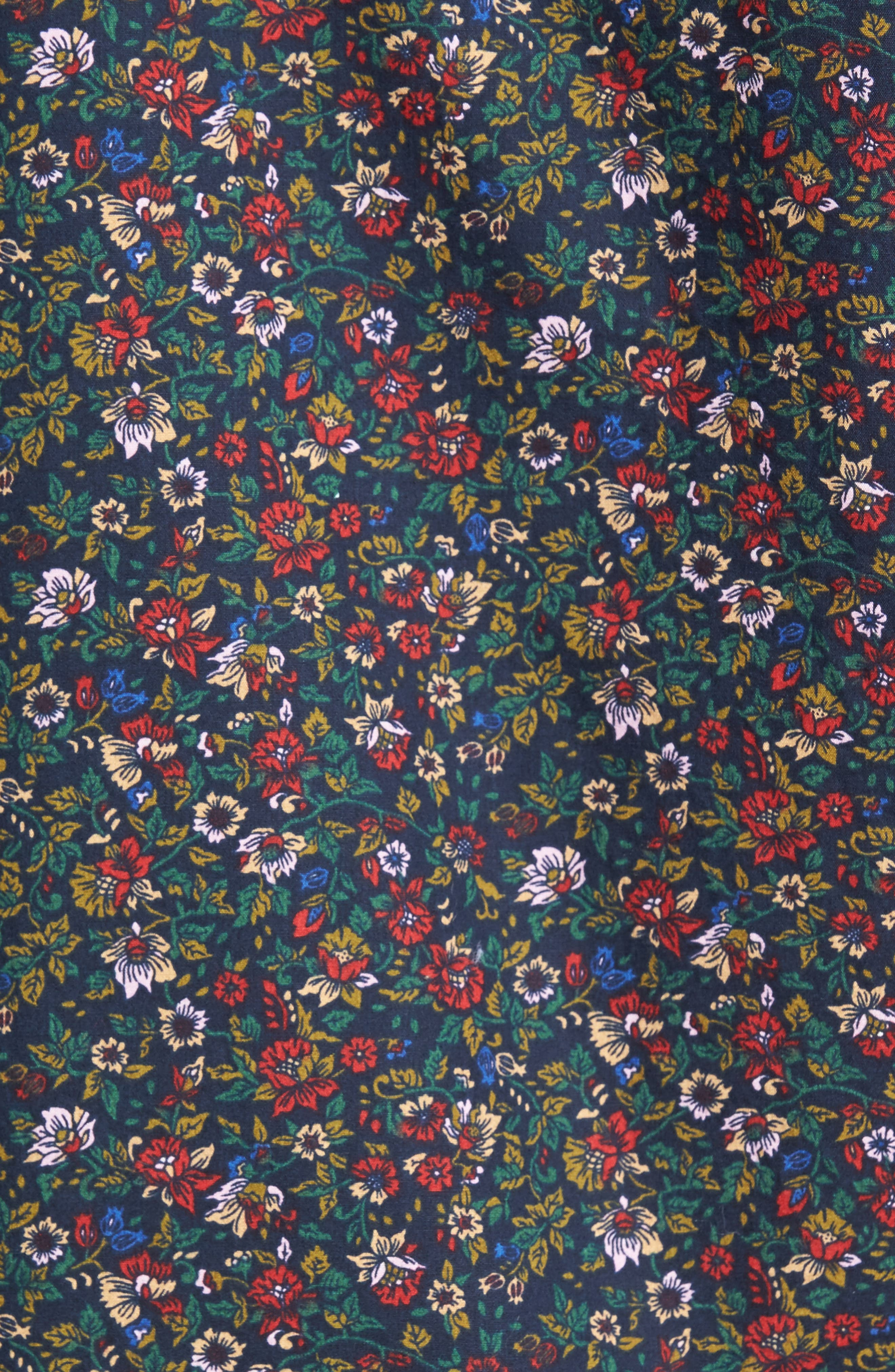 Unbutton Down Slim Fit Floral Sport Shirt,                             Alternate thumbnail 5, color,                             001
