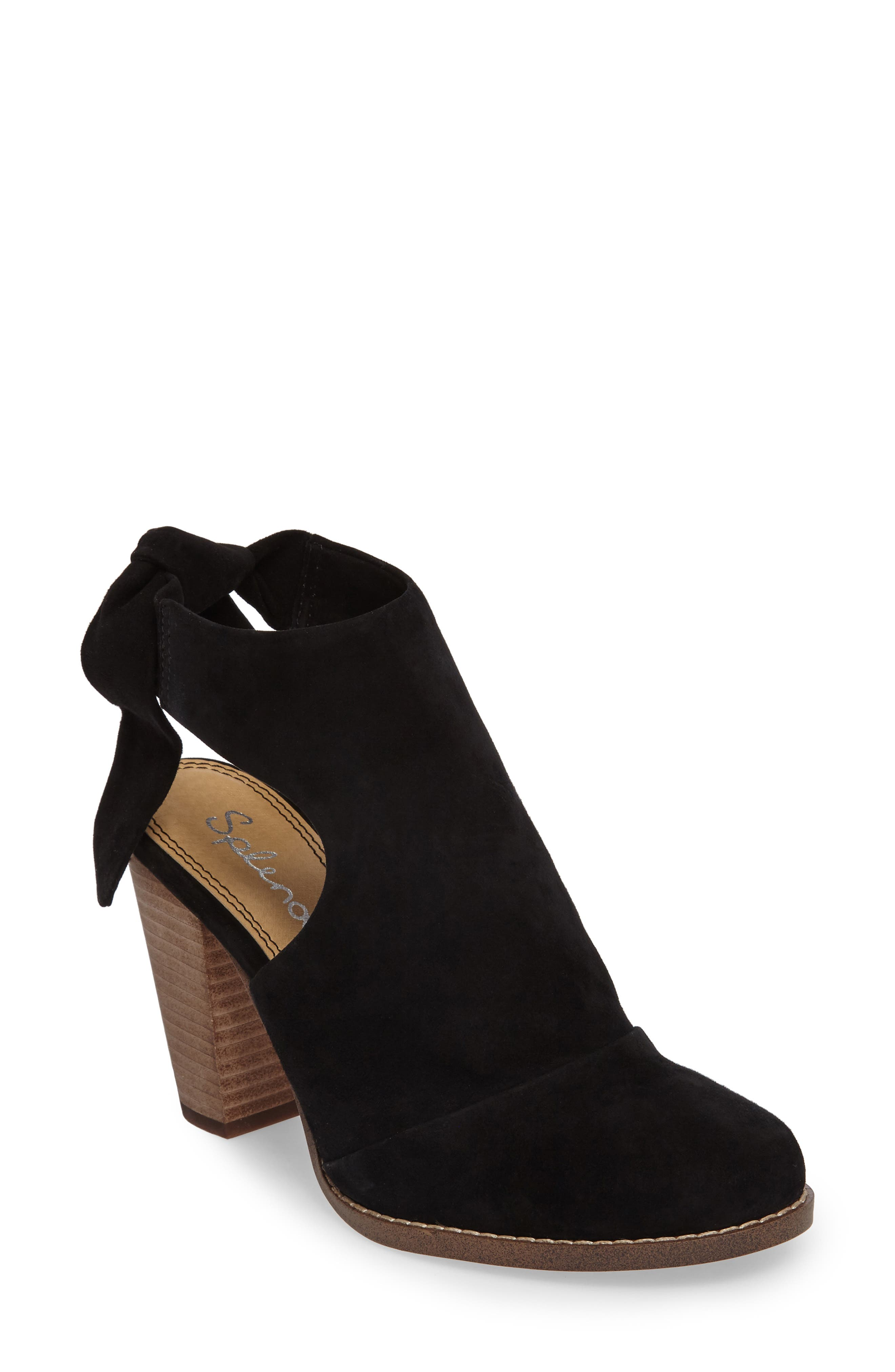 Danae Stacked Heel Bootie,                             Main thumbnail 1, color,                             013