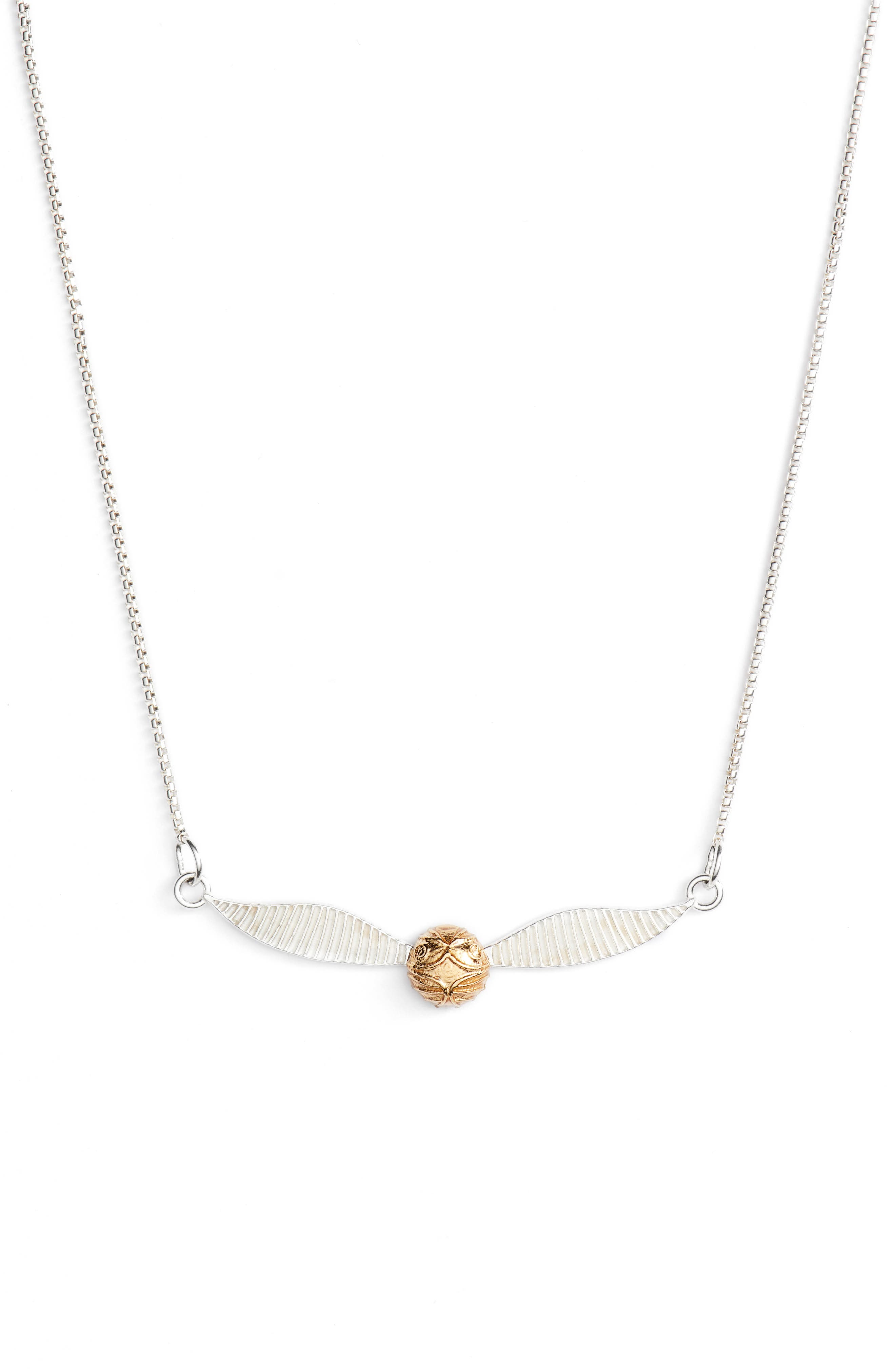 Harry Potter<sup>™</sup> Golden Snitch<sup>™</sup> Adjustable Necklace,                             Main thumbnail 1, color,