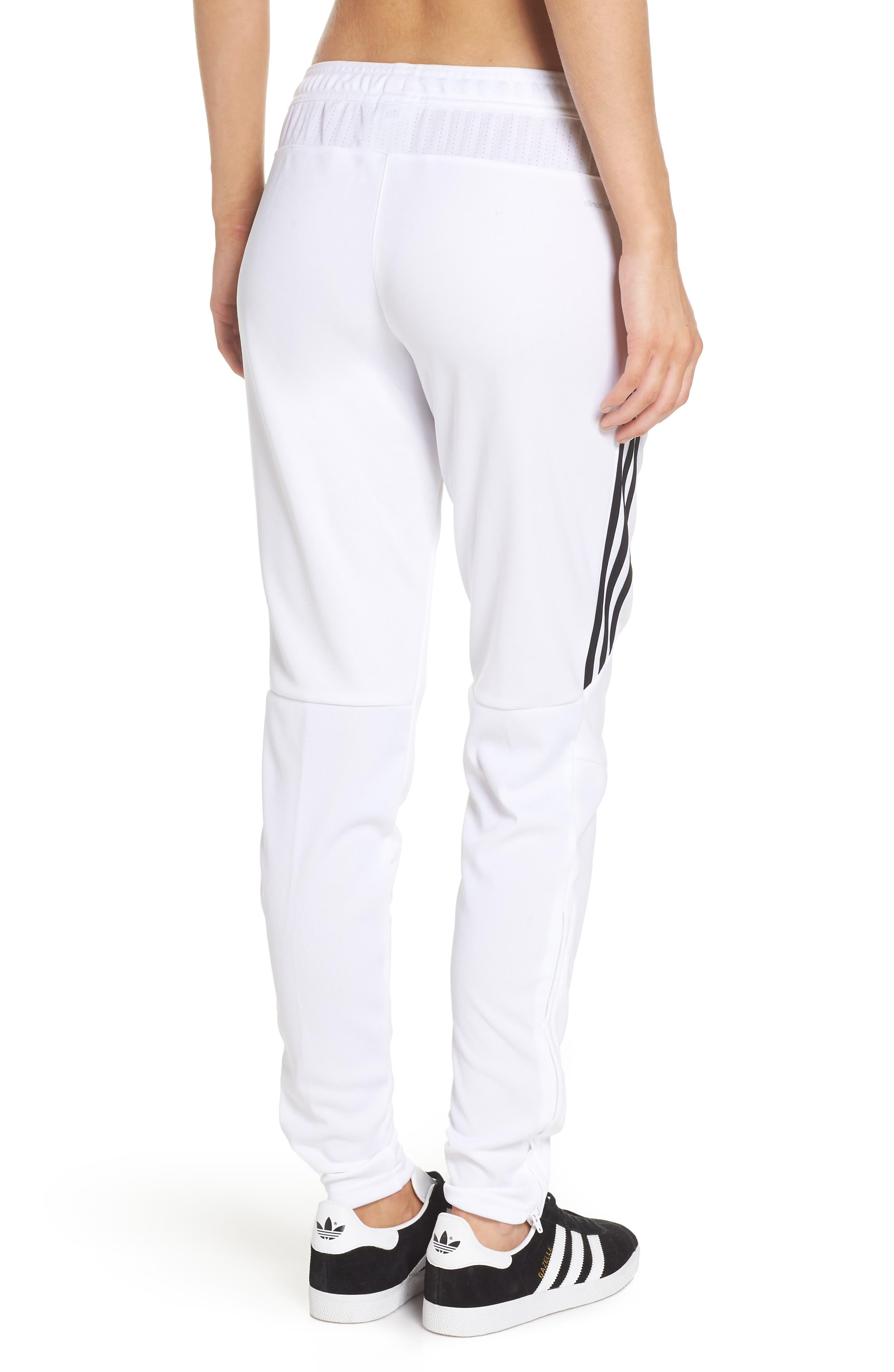 Tiro 17 Training Pants,                             Alternate thumbnail 2, color,                             WHITE/ BLACK