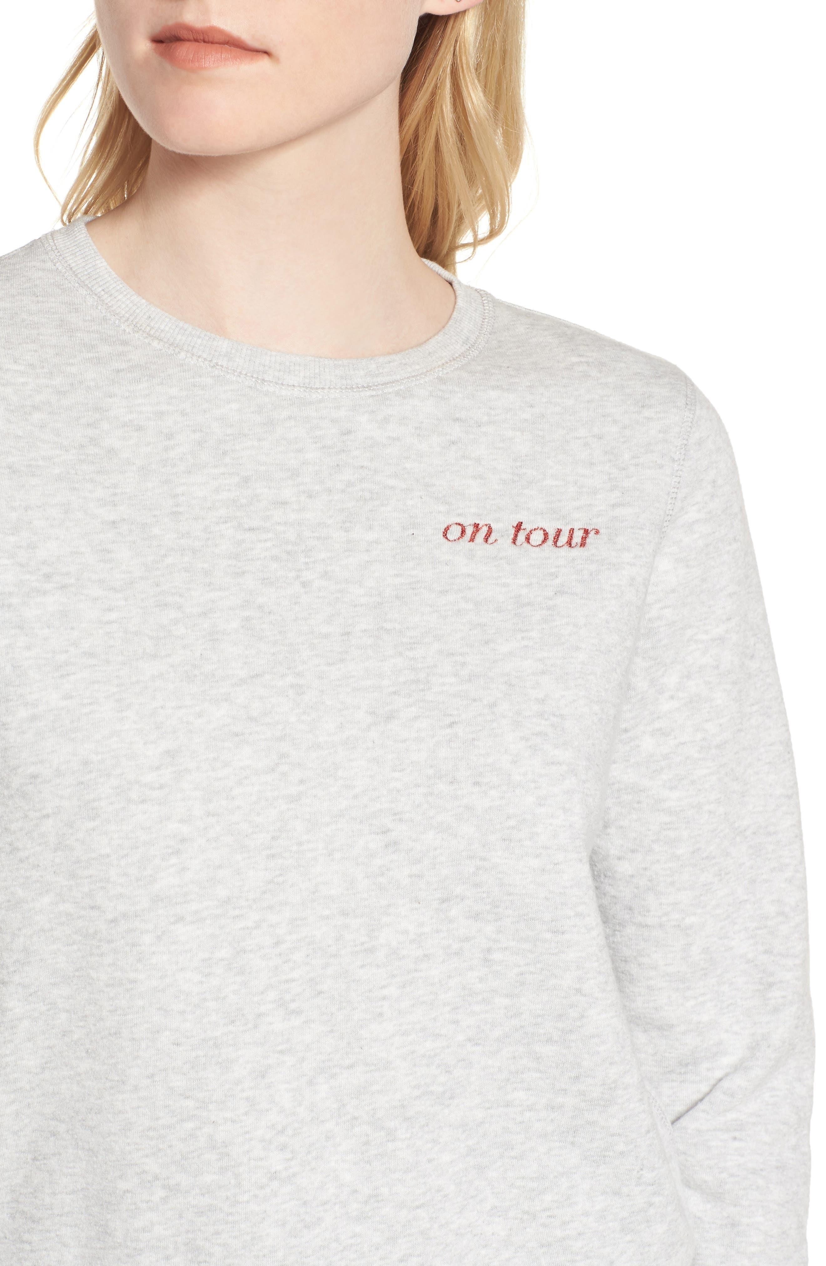 Kassidy Tour Sweatshirt,                             Alternate thumbnail 4, color,                             096