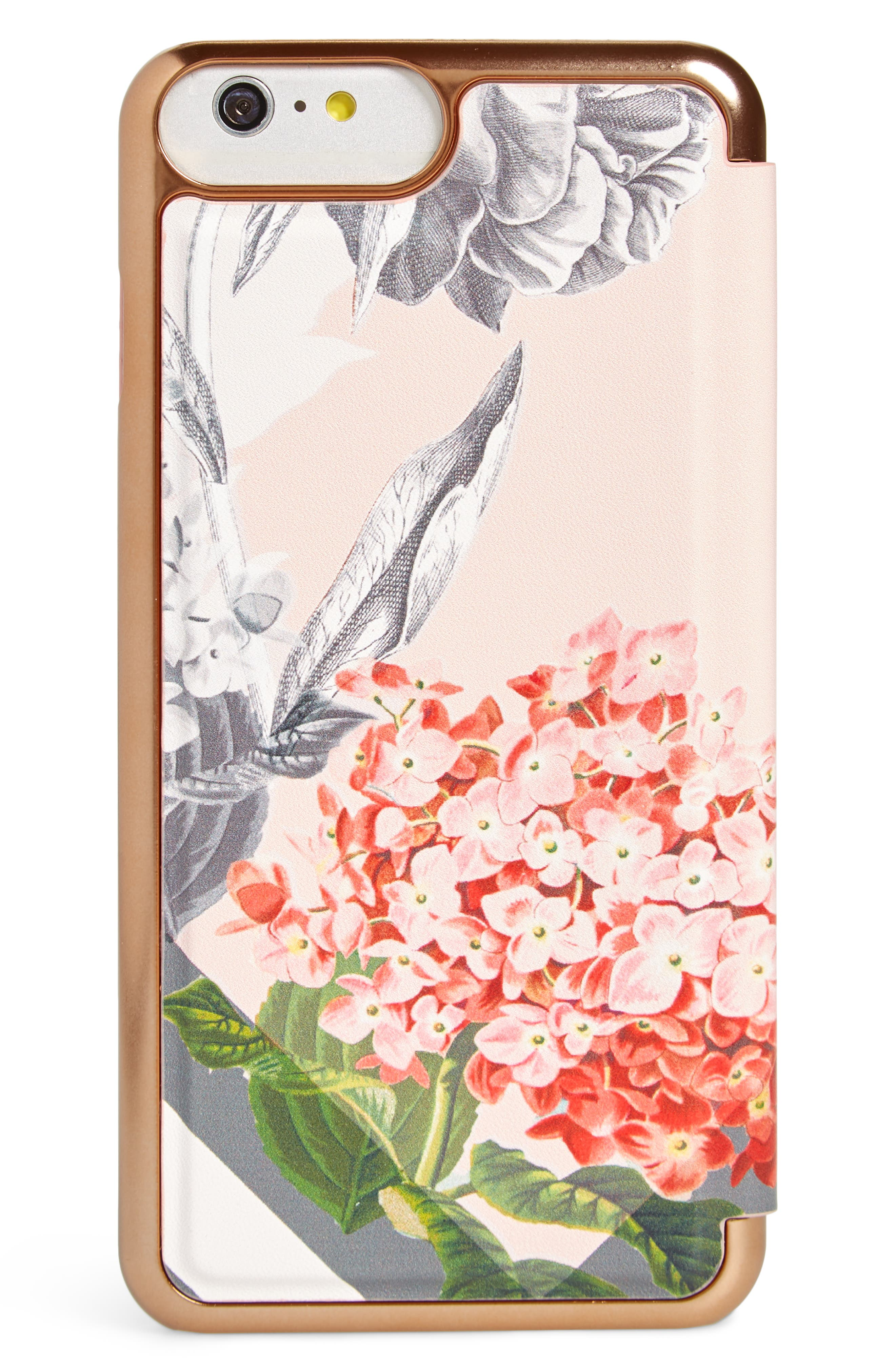 TED BAKER LONDON,                             Palace Gardens iPhone 7/8 & 7/8 Plus Case,                             Alternate thumbnail 3, color,                             PINK