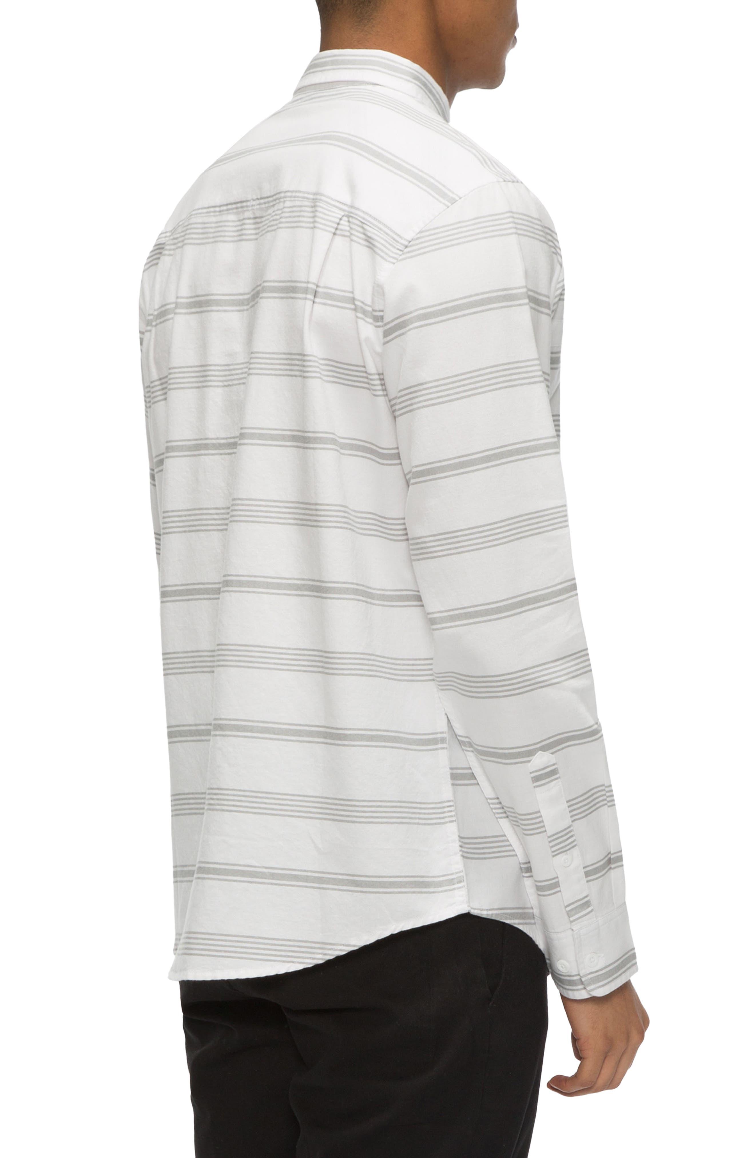 Shin Stripe Sport Shirt,                             Alternate thumbnail 4, color,