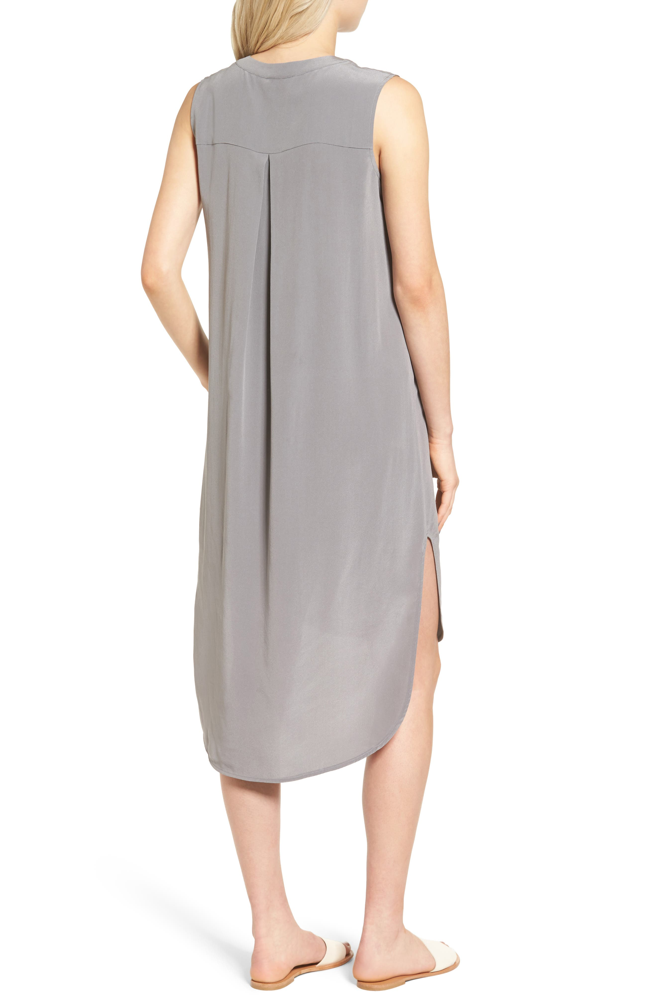 Britt Silk Shift Dress,                             Alternate thumbnail 2, color,                             022