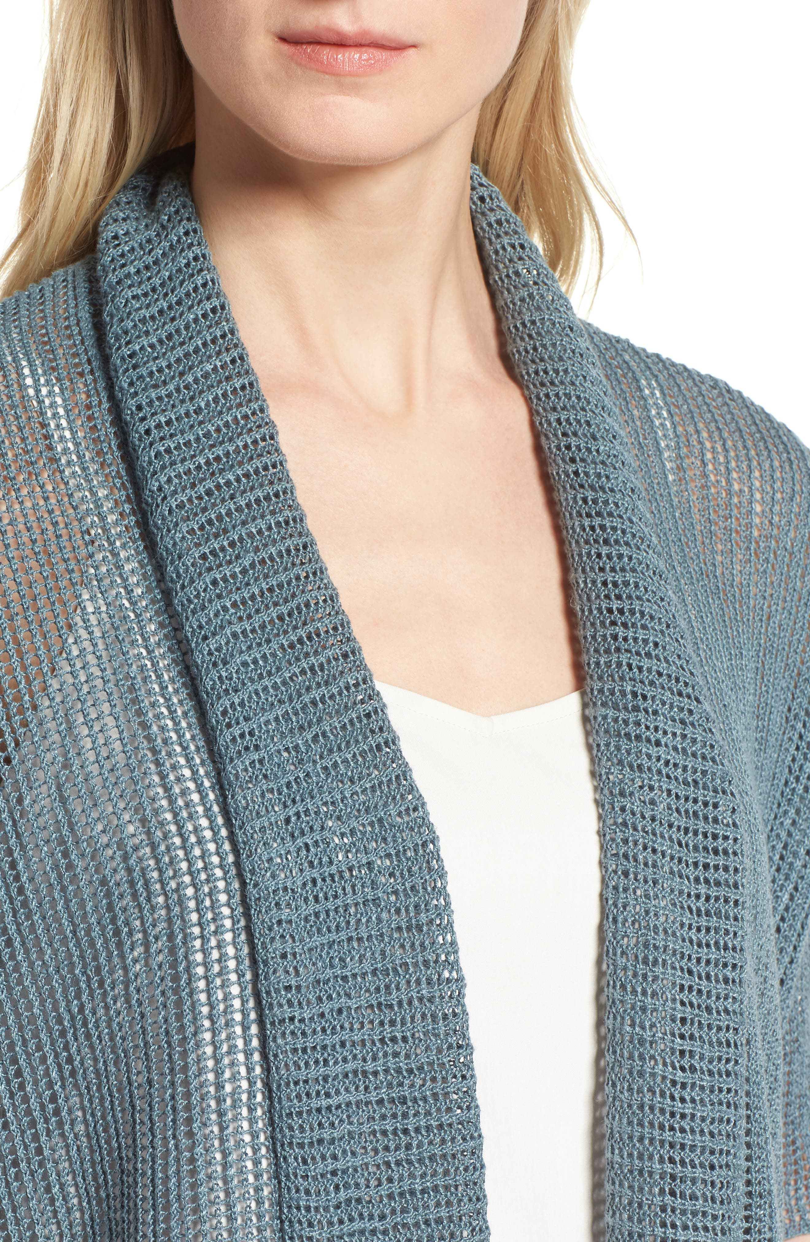 Boxy Organic Linen Cardigan,                             Alternate thumbnail 21, color,