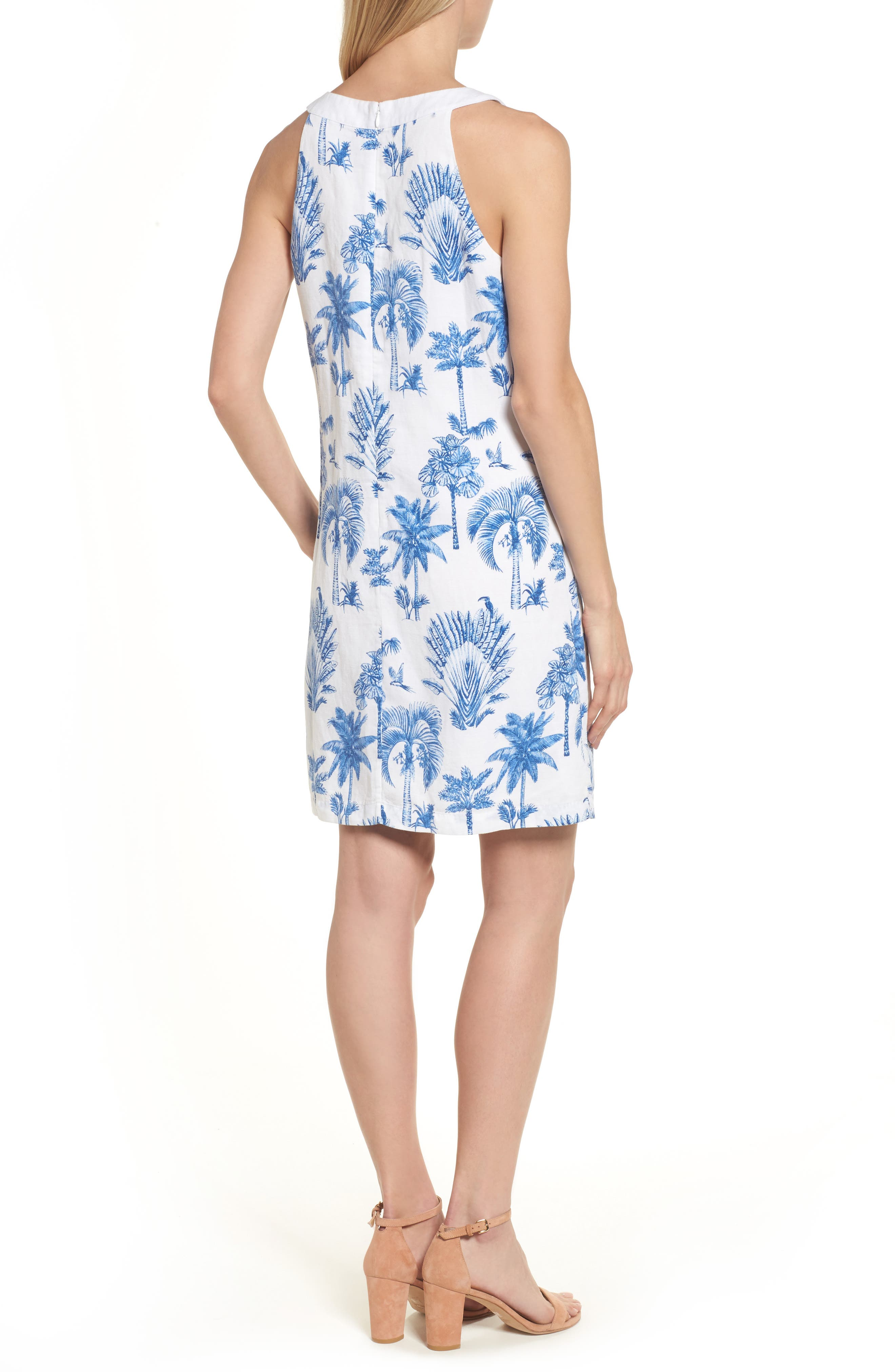 Having a Toile Shift Dress,                             Alternate thumbnail 2, color,                             DOCKSIDE BLUE
